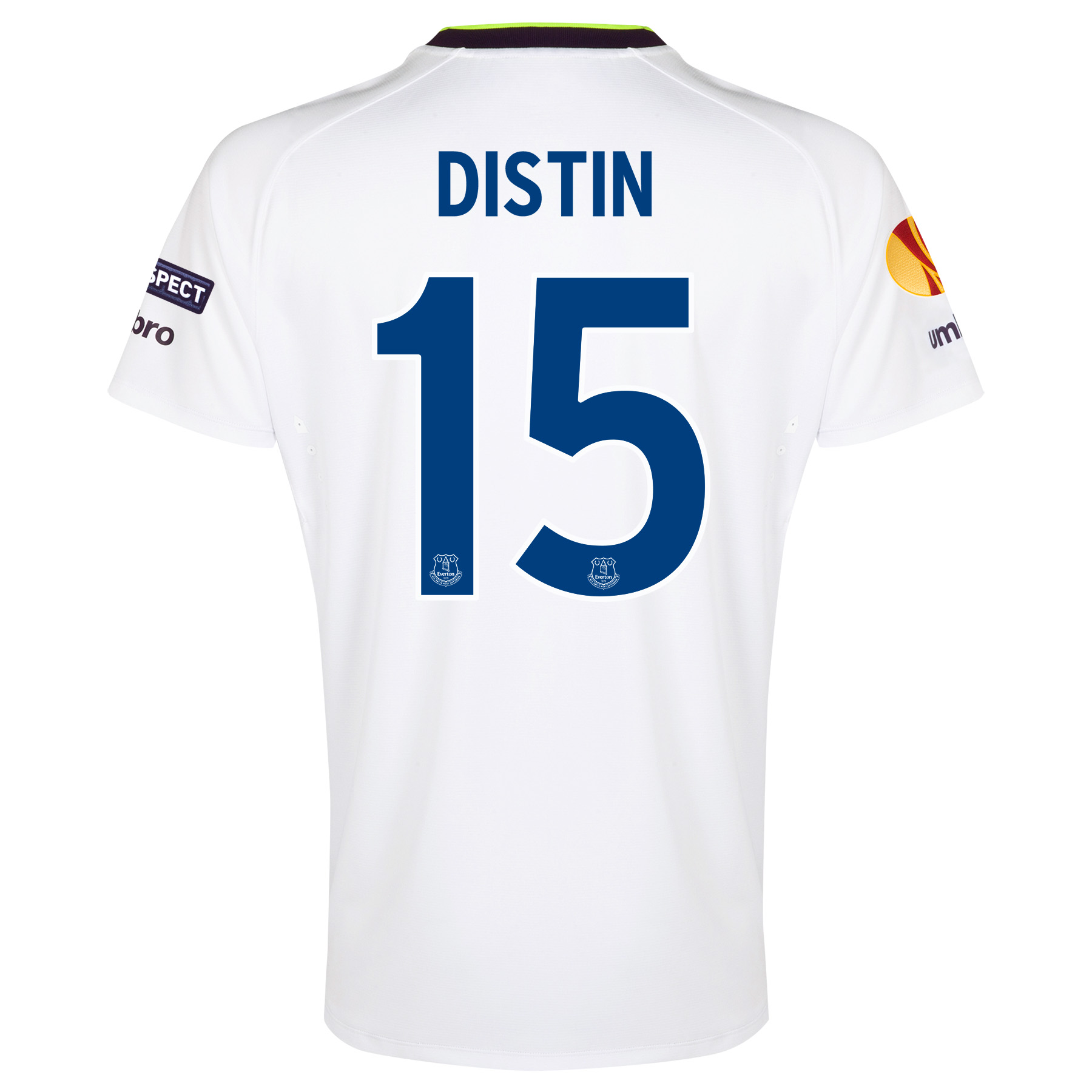Everton UEFA Europa League 3rd Shirt 2014/15 with Distin 15 printing