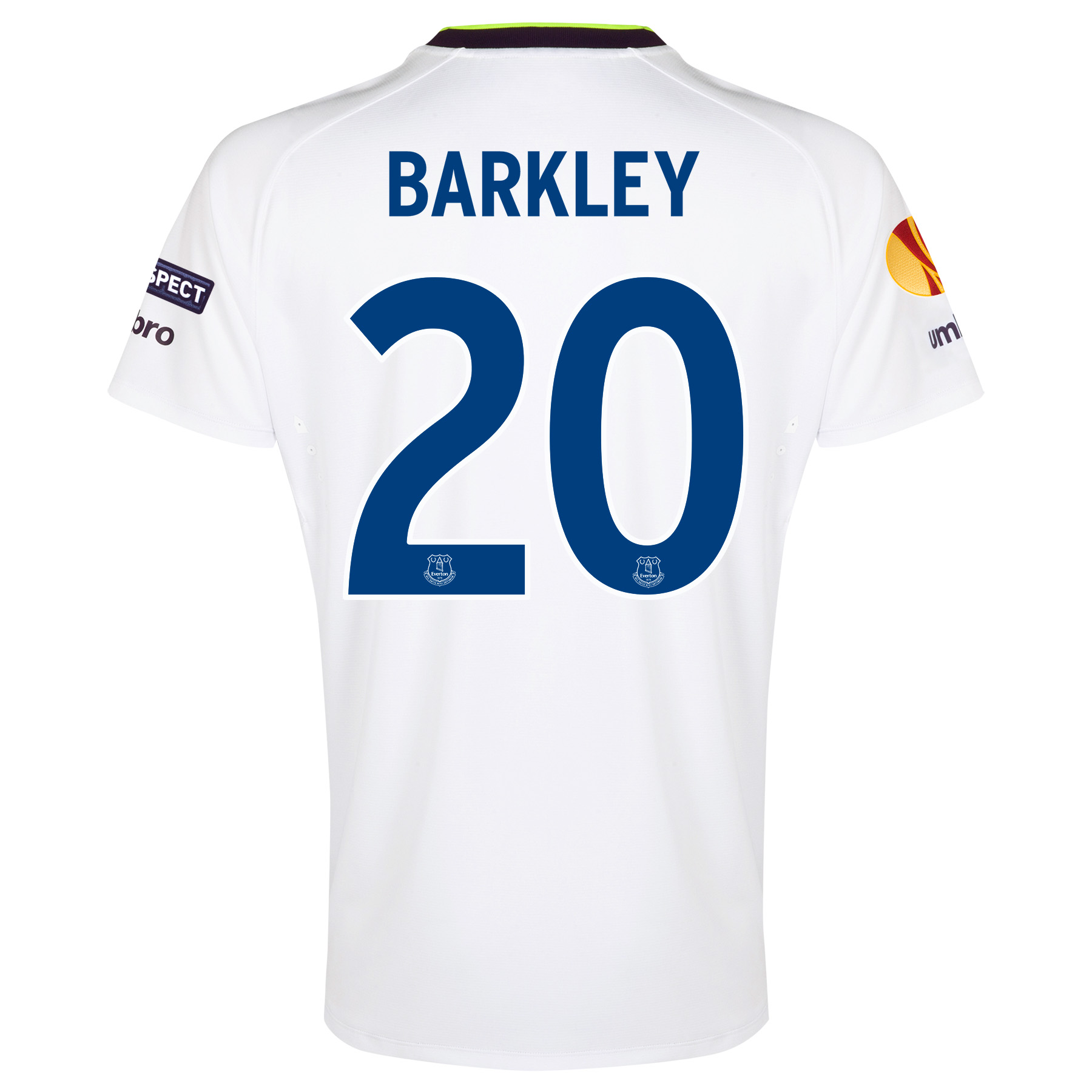 Everton UEFA Europa League 3rd Shirt 2014/15 with Barkley 20 printing