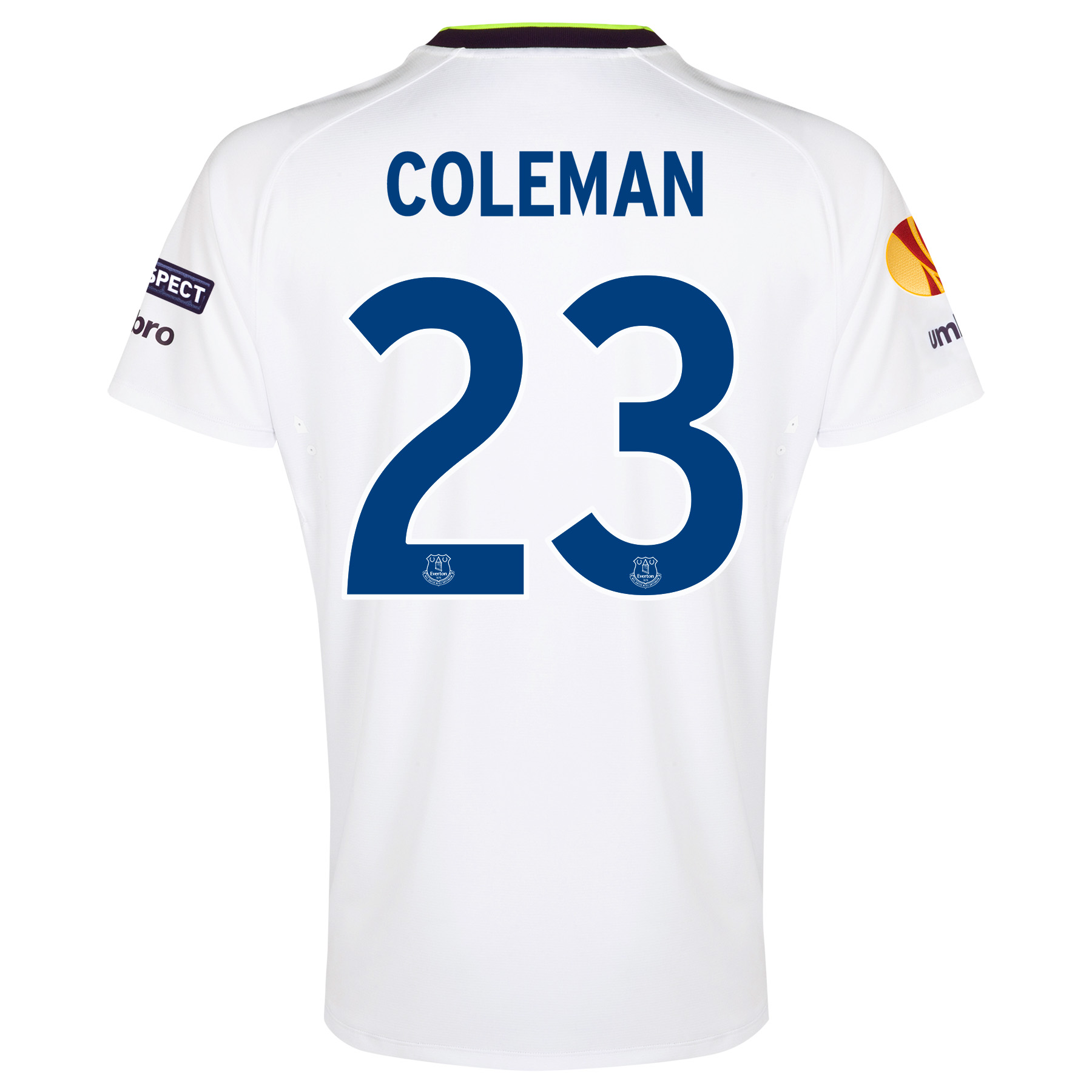 Everton UEFA Europa League 3rd Shirt 2014/15 with Coleman 23 printing