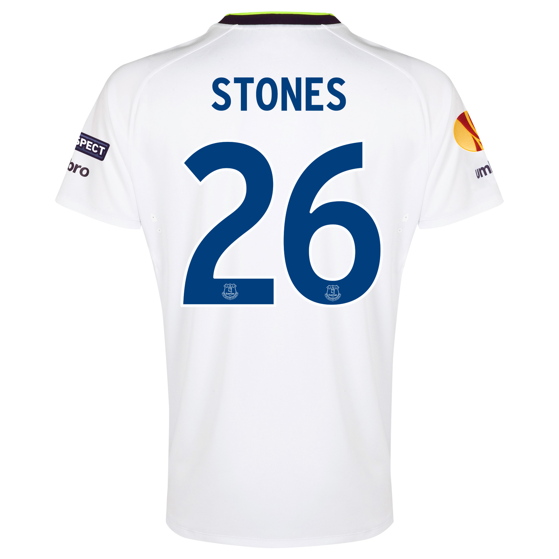 Everton UEFA Europa League 3rd Shirt 2014/15 with Stones 26 printing