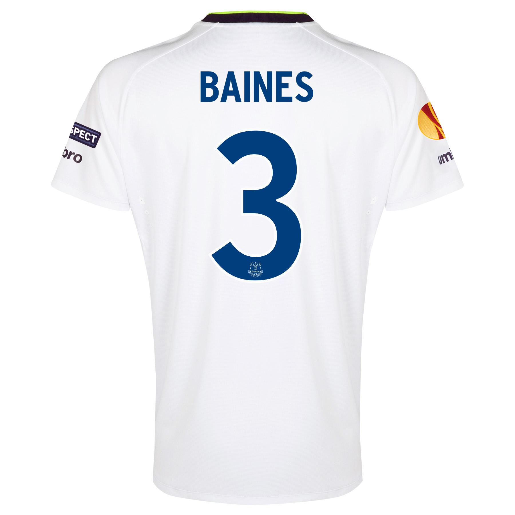 Everton UEFA Europa League 3rd Shirt 2014/15 - Junior with Baines 3 printing