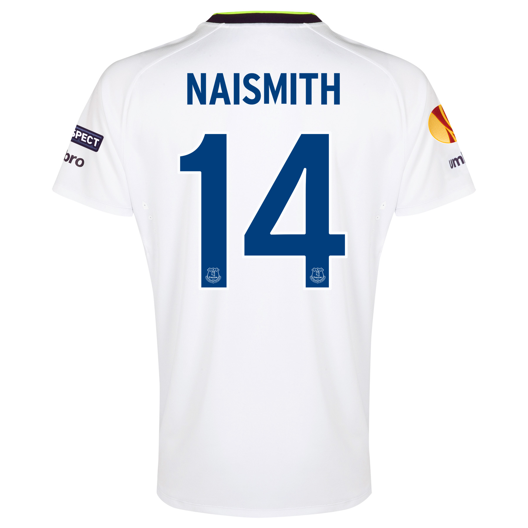Everton UEFA Europa League 3rd Shirt 2014/15 - Junior with Naismith 14 printing