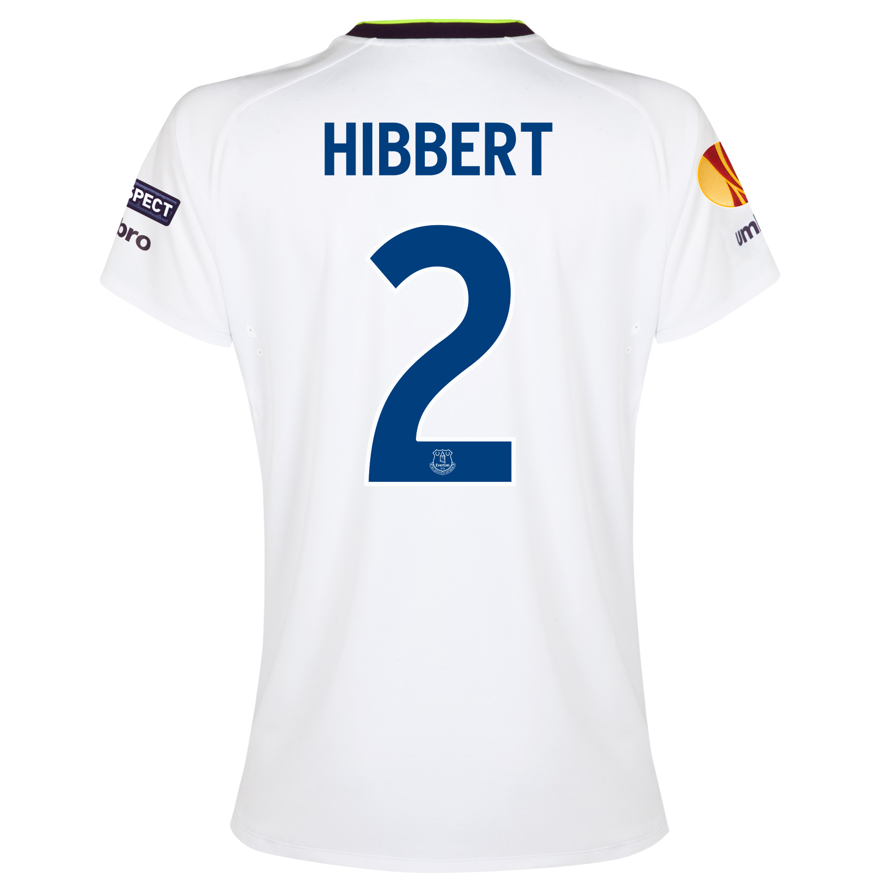 Everton UEFA Europa League 3rd Shirt 2014/15 - Womens with Hibbert 2 printing