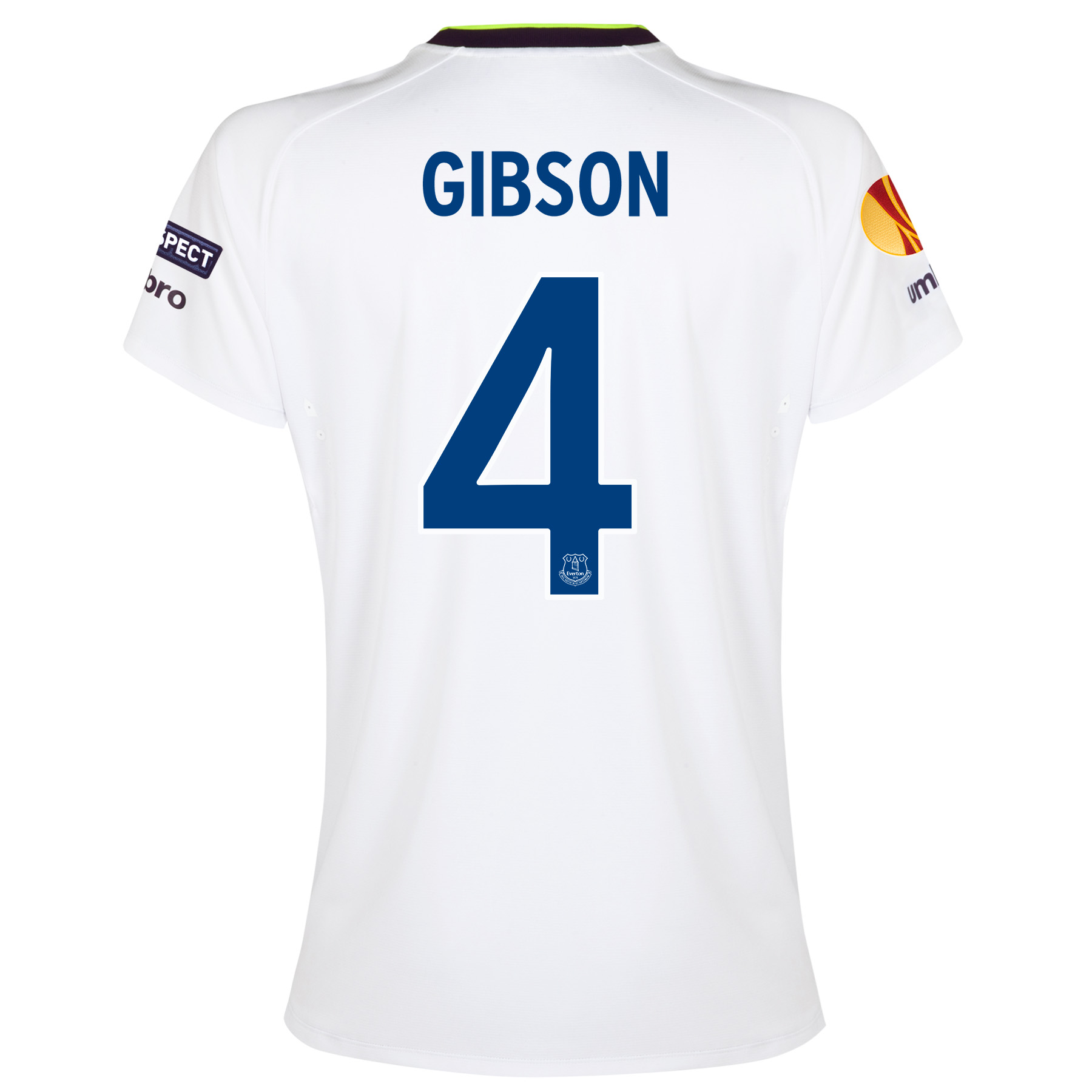 Everton UEFA Europa League 3rd Shirt 2014/15 - Womens with Gibson 4 printing