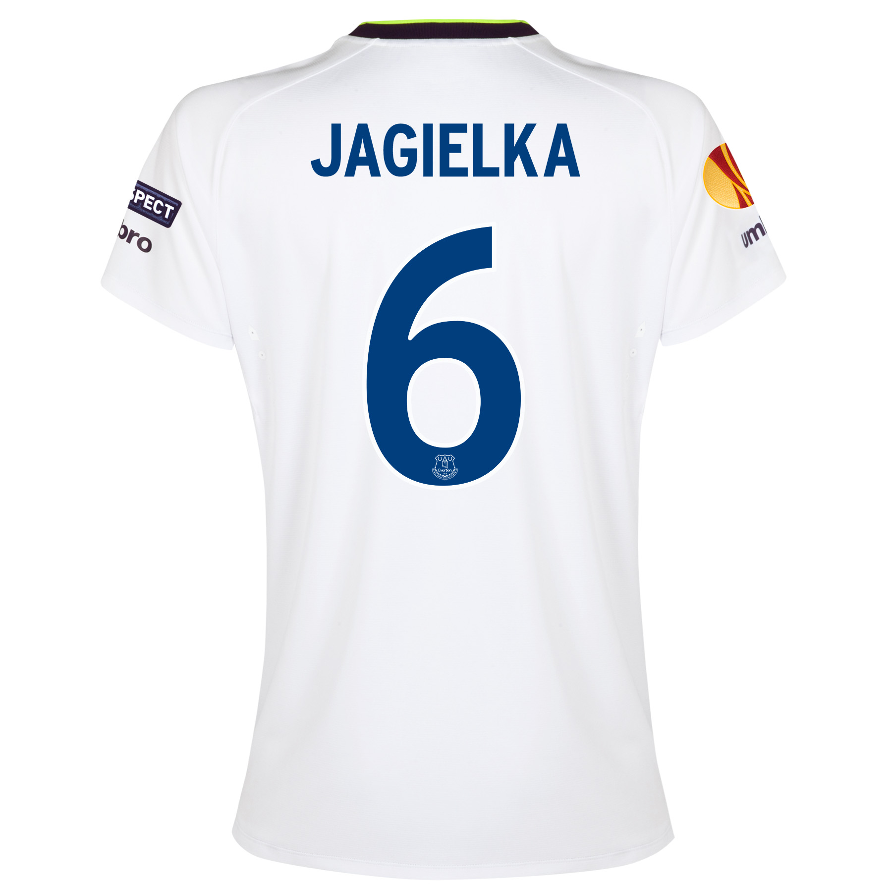 Everton UEFA Europa League 3rd Shirt 2014/15 - Womens with Jagielka 6 printing
