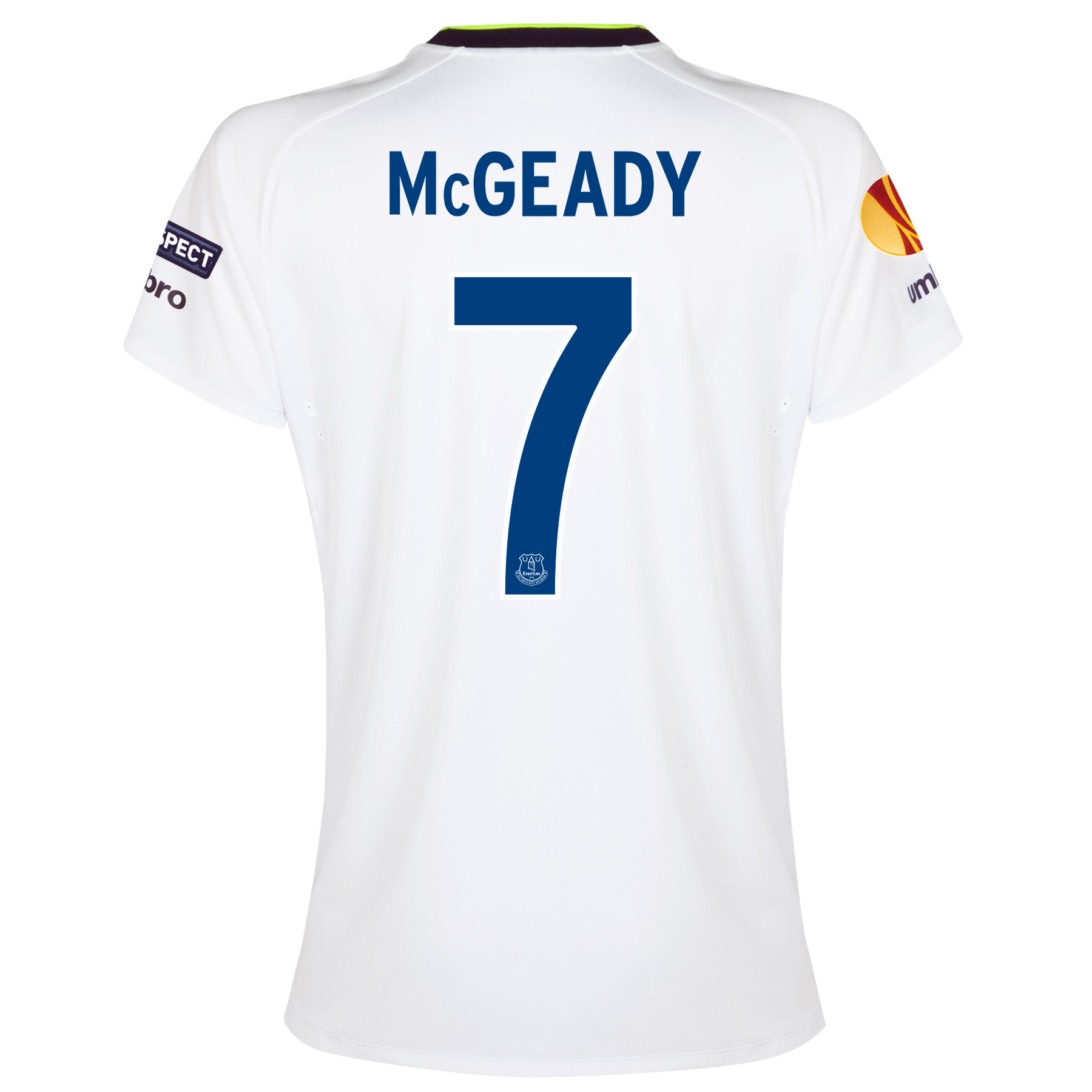 Everton UEFA Europa League 3rd Shirt 2014/15 - Womens with McGeady 7 printing
