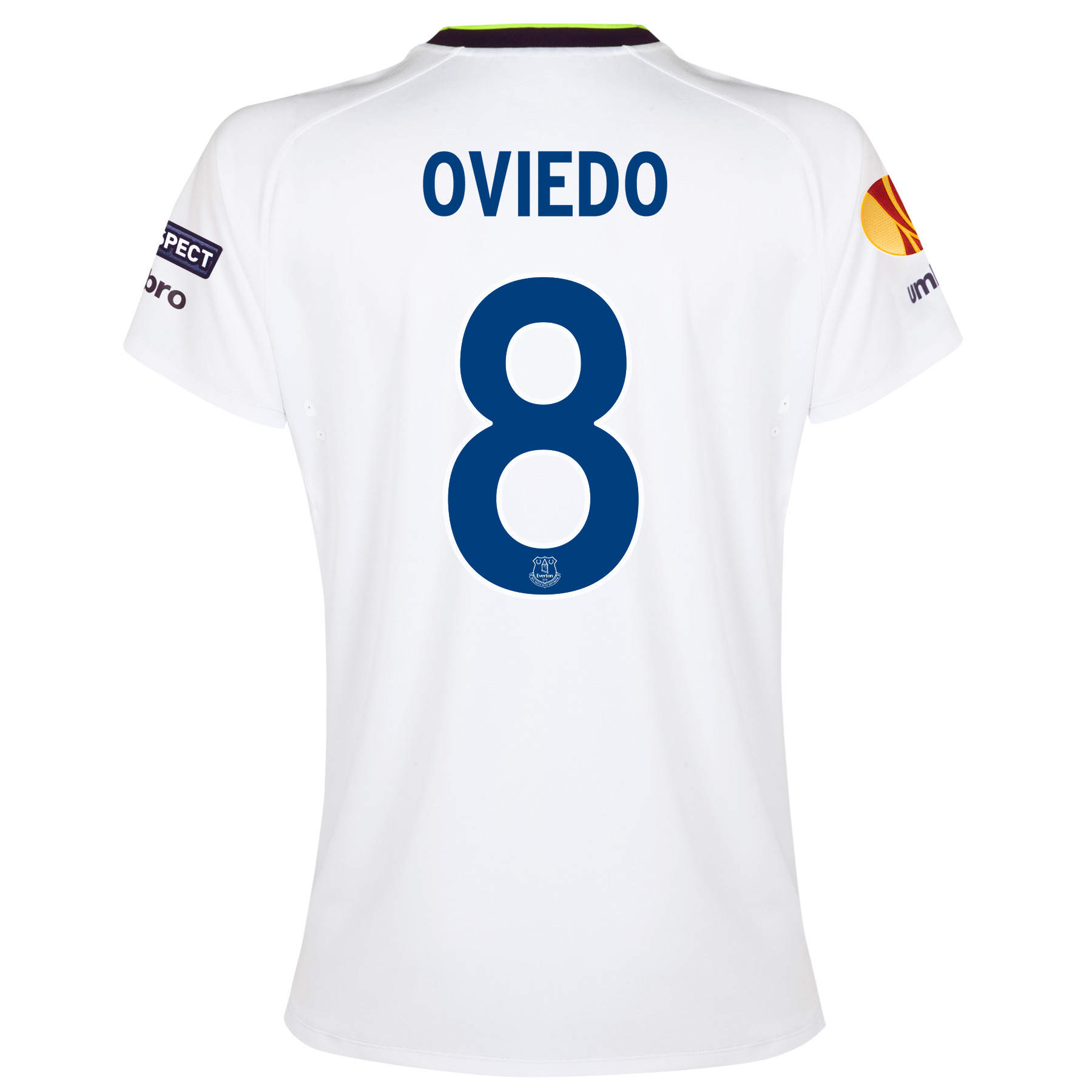 Everton UEFA Europa League 3rd Shirt 2014/15 - Womens with Oviedo 8 printing