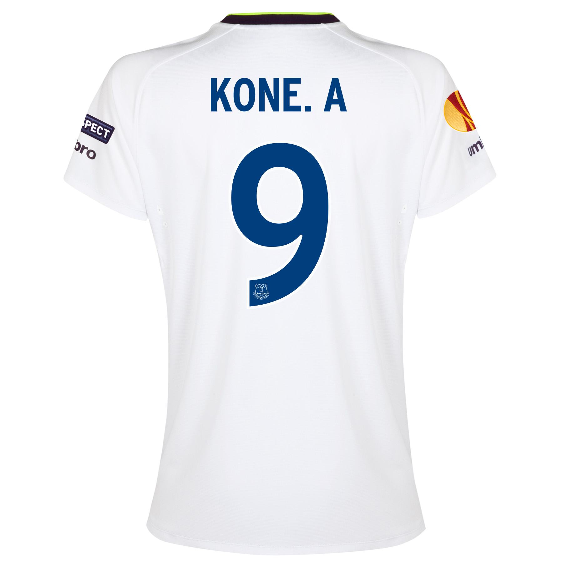 Everton UEFA Europa League 3rd Shirt 2014/15 - Womens with Kone.A 9 printing