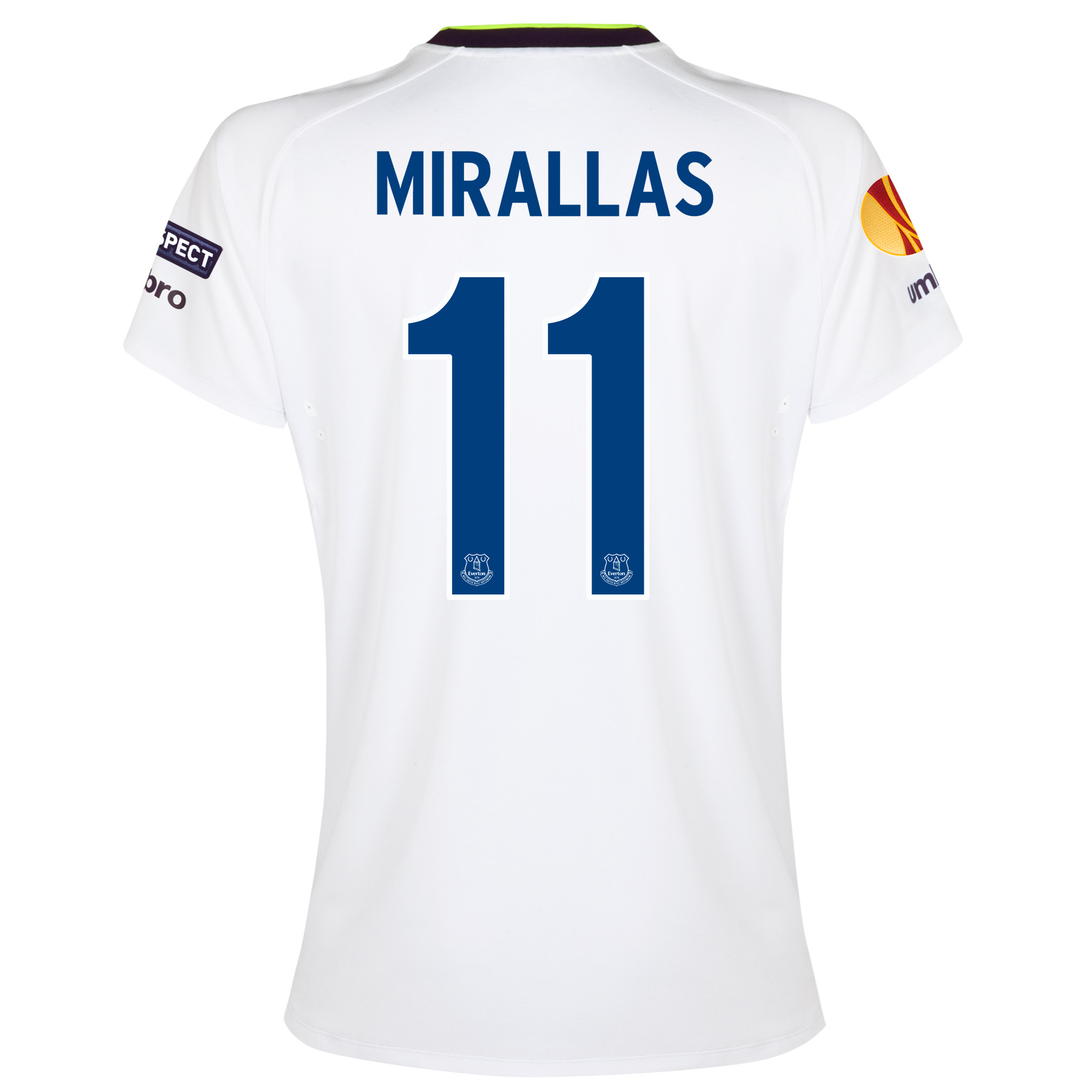 Everton UEFA Europa League 3rd Shirt 2014/15 - Womens with Mirallas 11 printing
