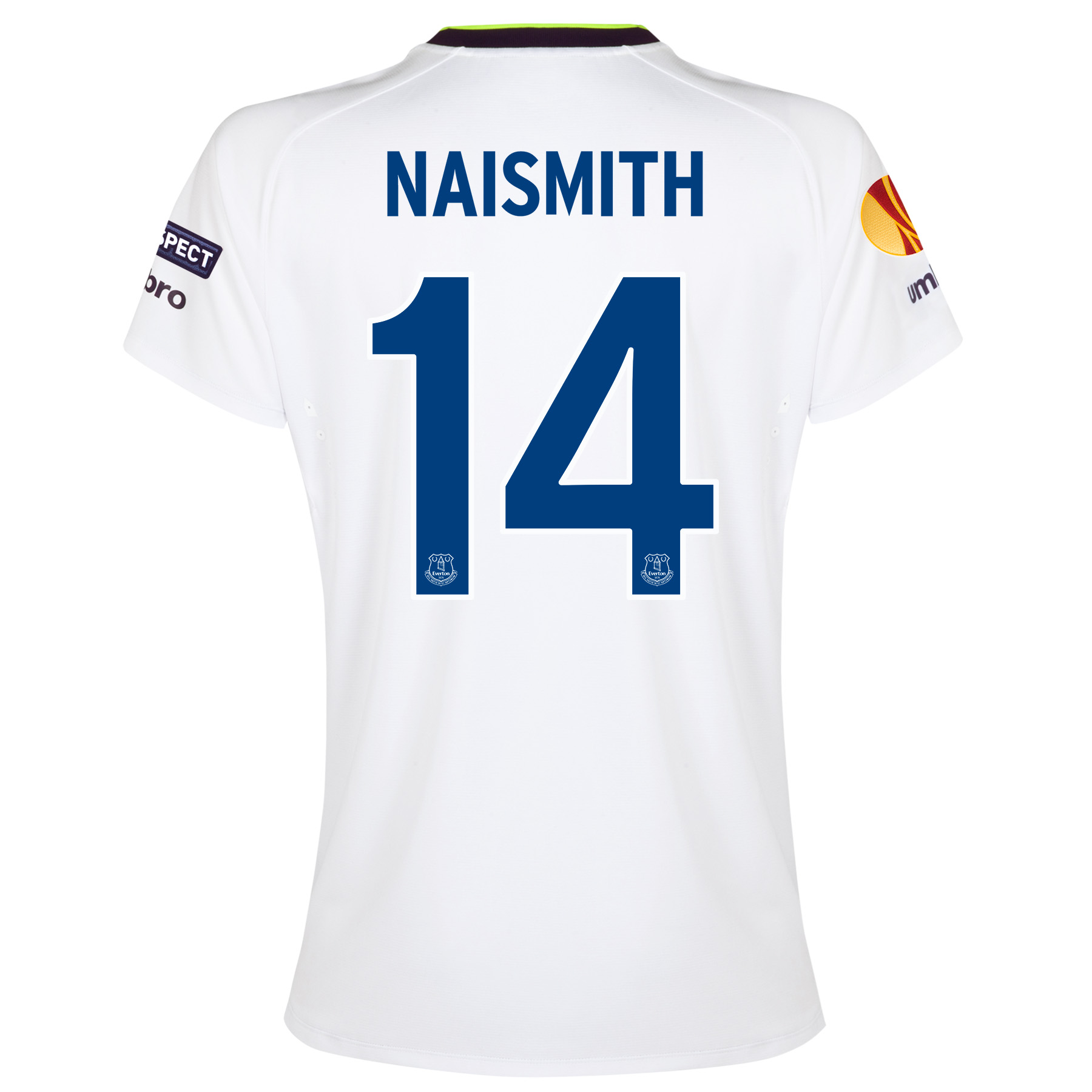 Everton UEFA Europa League 3rd Shirt 2014/15 - Womens with Naismith 14