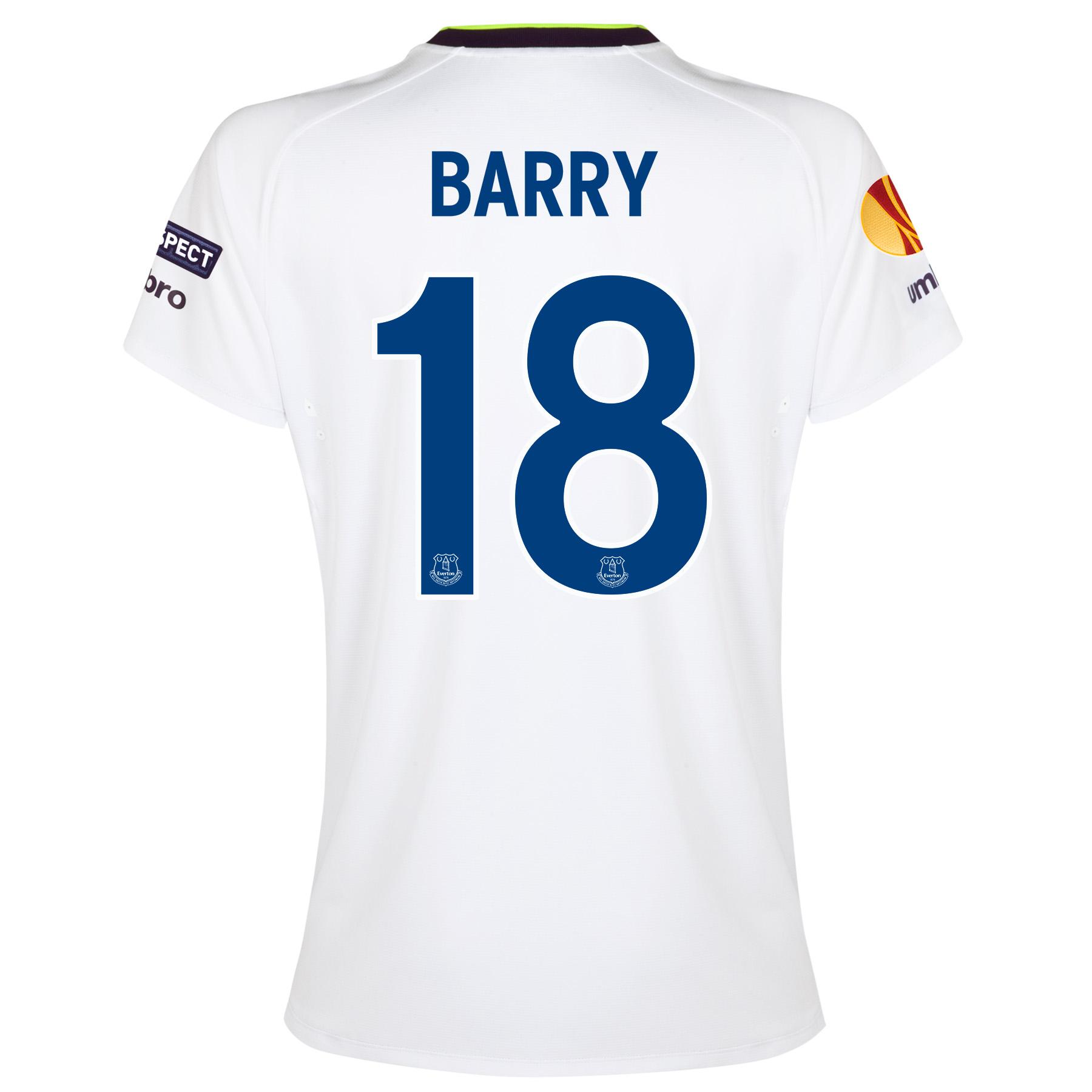 Everton UEFA Europa League 3rd Shirt 2014/15 - Womens with Barry 18 pr