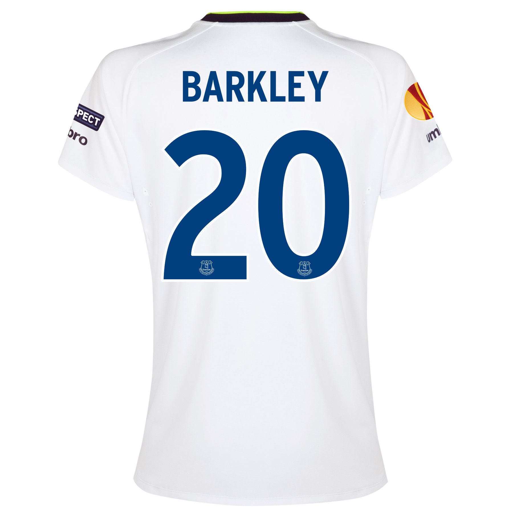 Everton UEFA Europa League 3rd Shirt 2014/15 - Womens with Barkley 20 printing