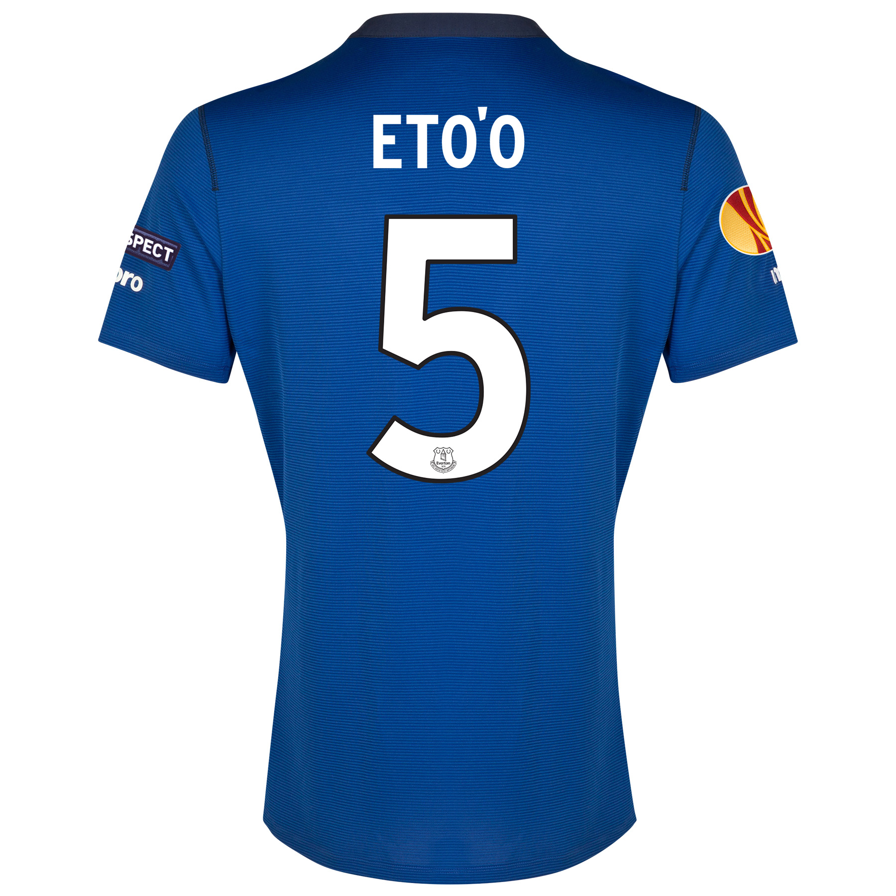 Everton UEFA Europa League SS Home Shirt 2014/15 with Eto'o 5 printing