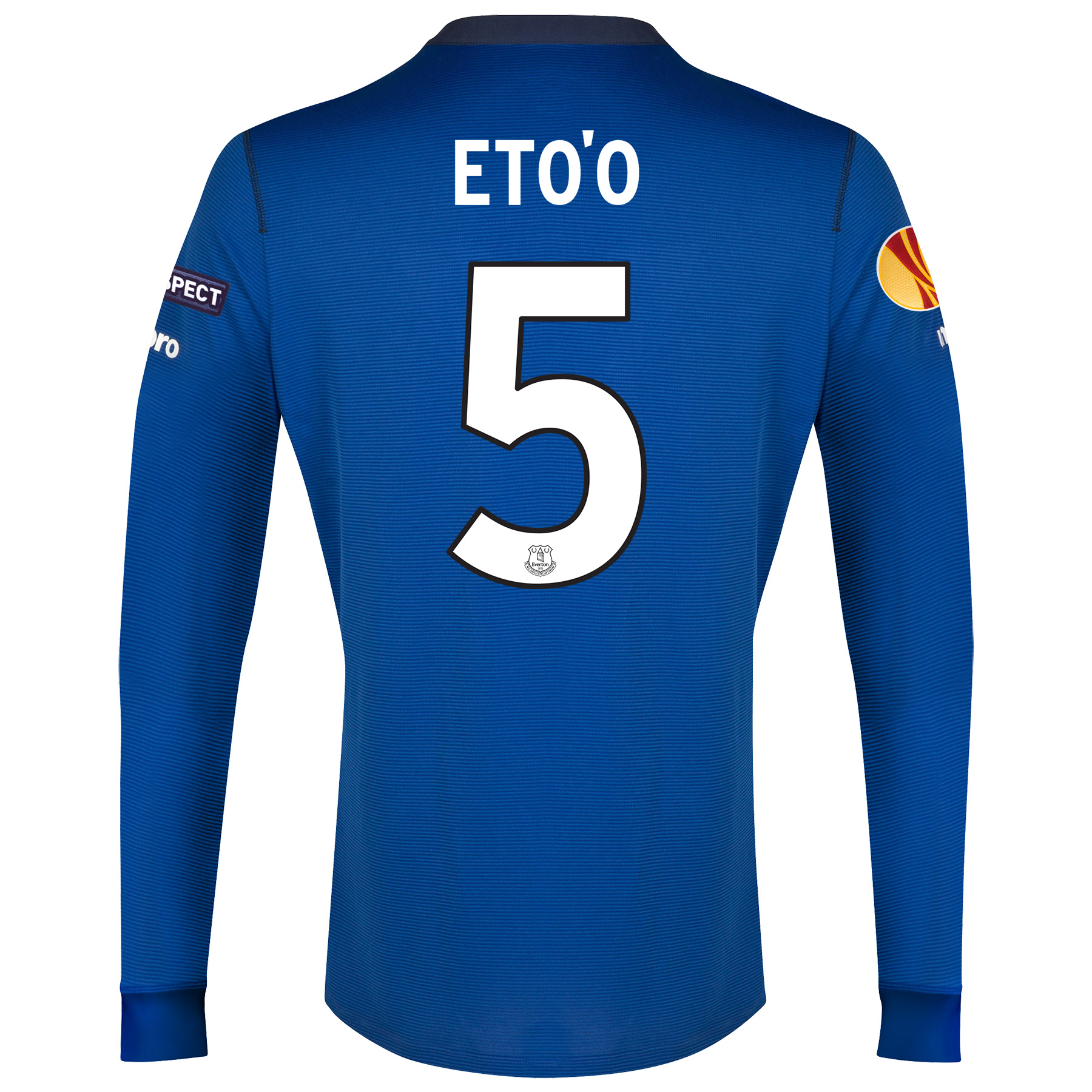 Everton UEFA Europa League LS Home Shirt 2014/15 with Eto'o 5 printing