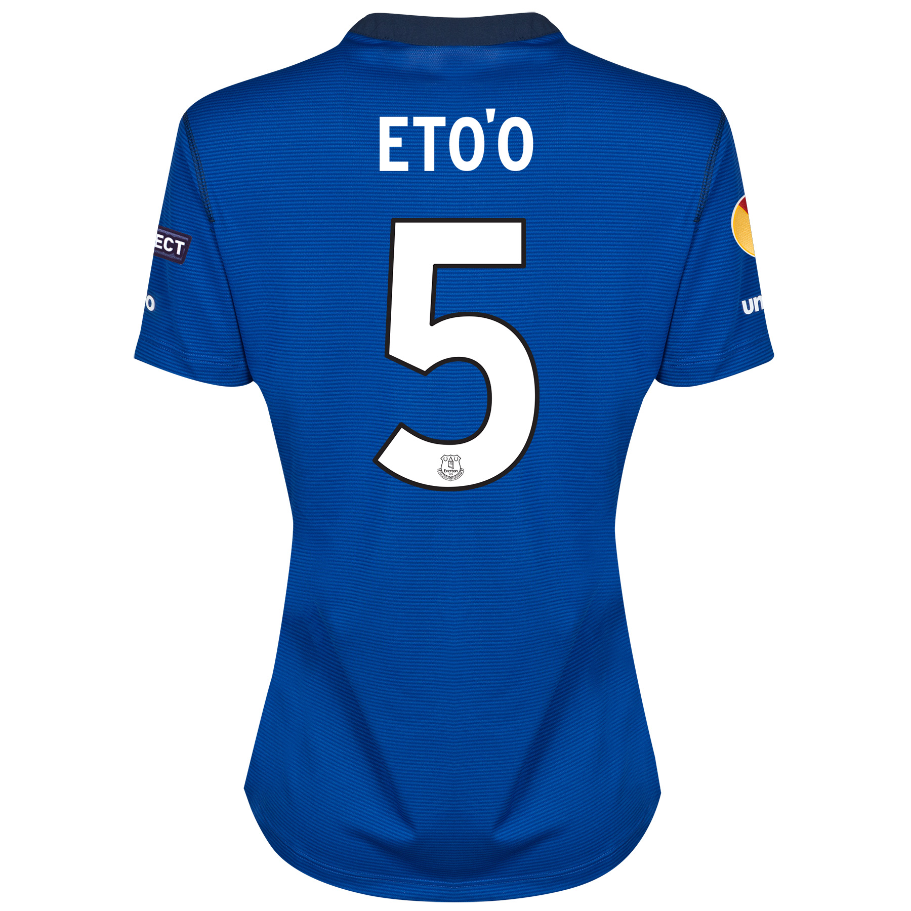Everton UEFA Europa League SS Home Shirt 2014/15 - Womens with Eto'o 5 printing