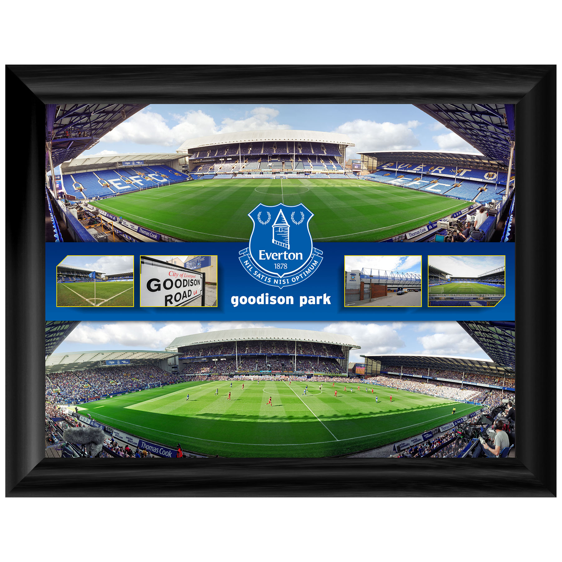 Everton Stadium Panoramic Montage 16X12