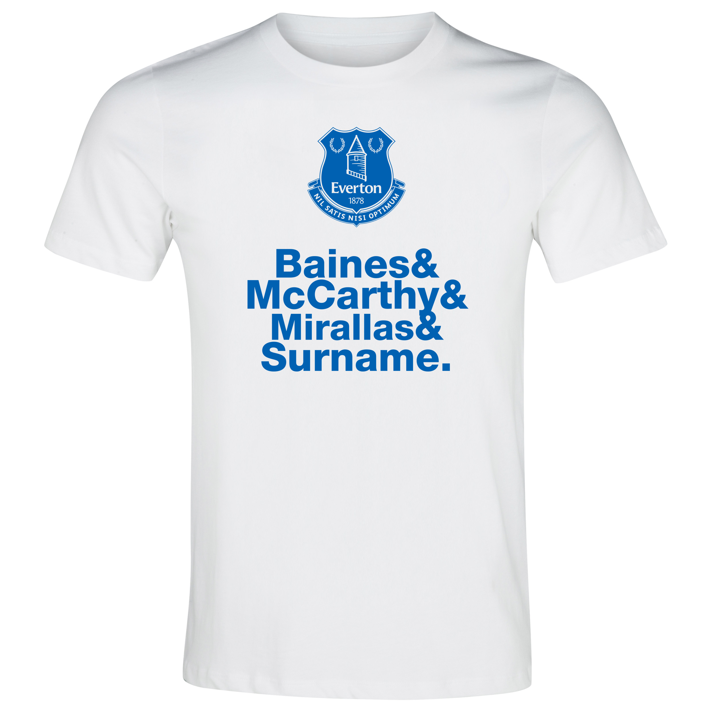 Everton Personalised Player T-Shirt