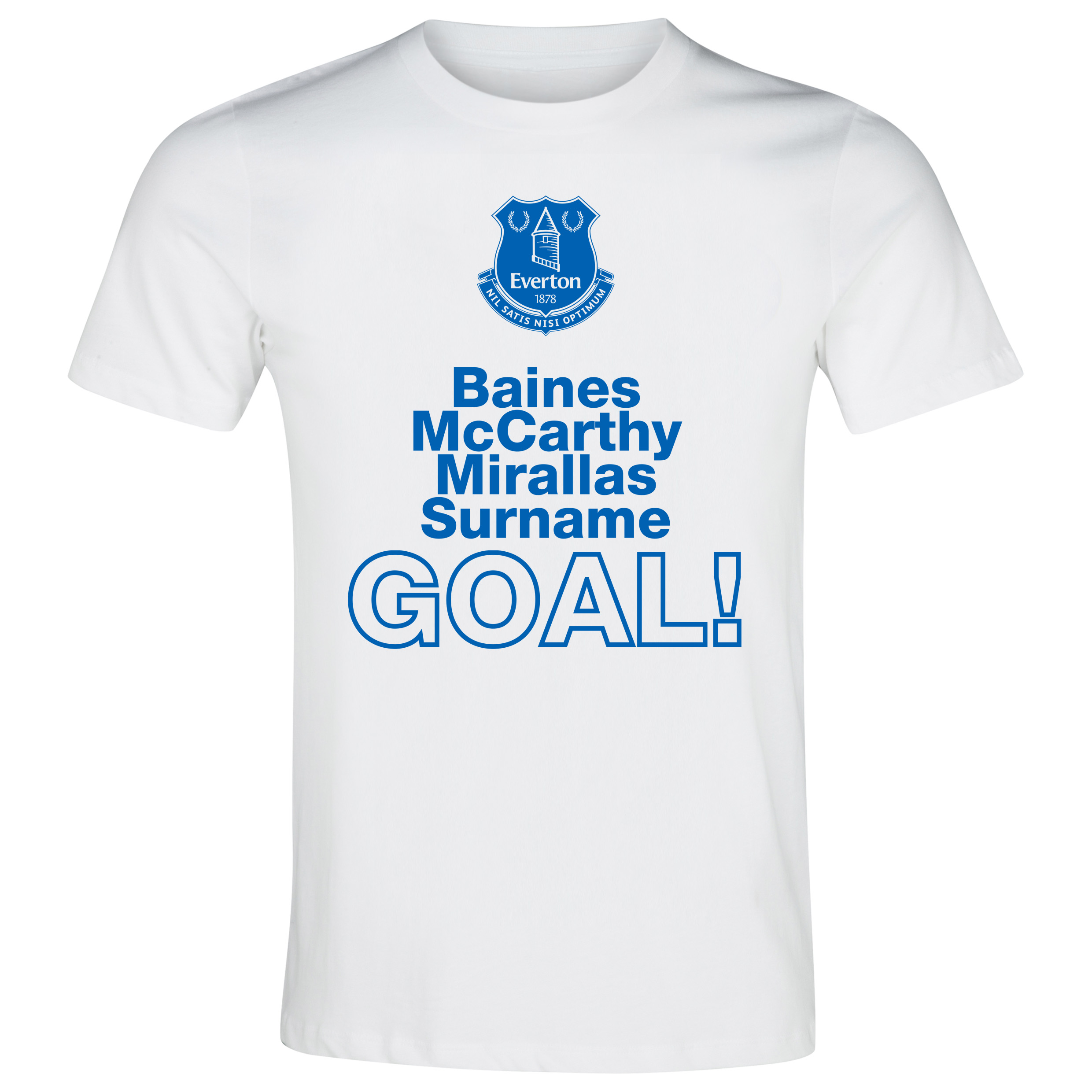 Everton Personalised Goal T-Shirt