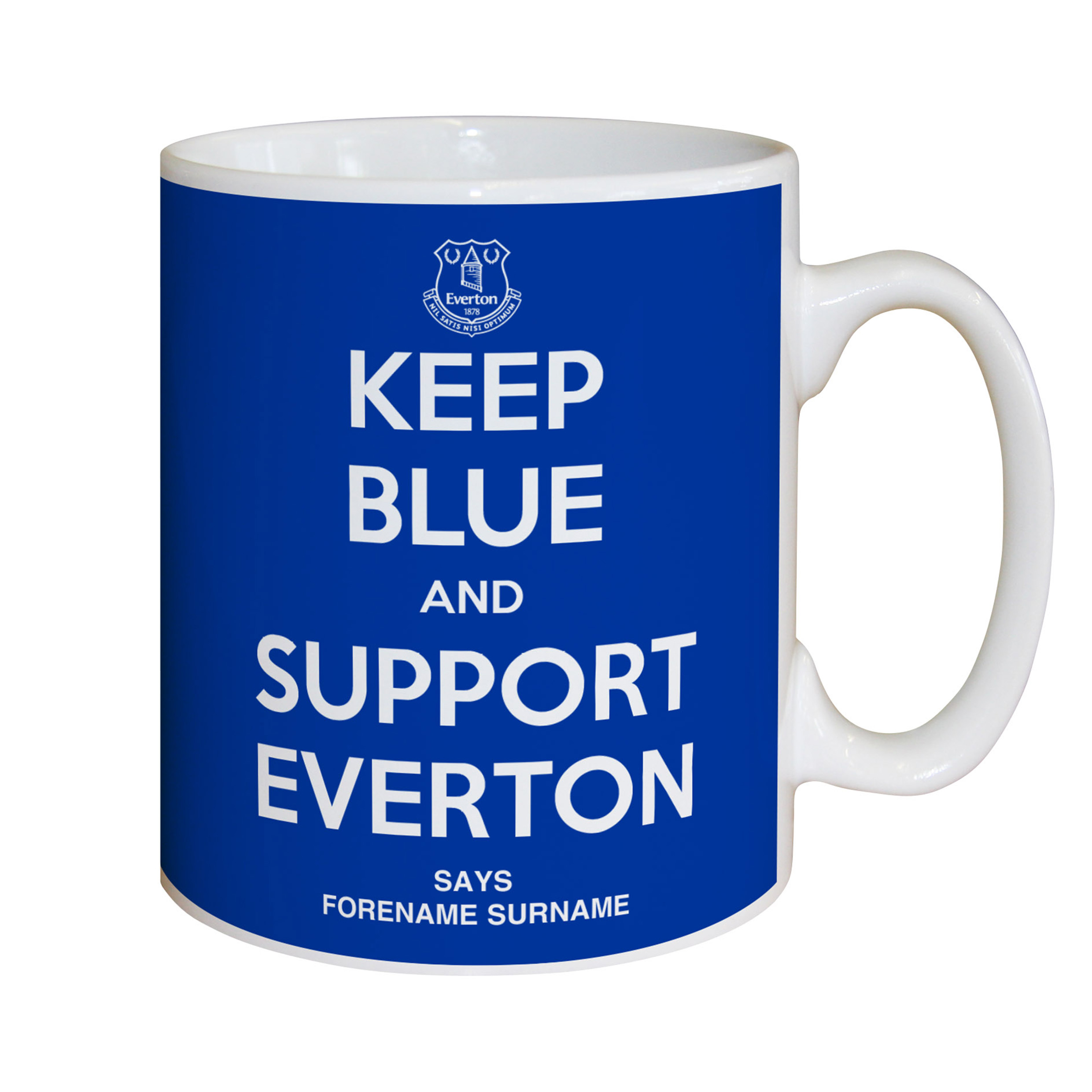 Everton Personalised Keep Blue Mug