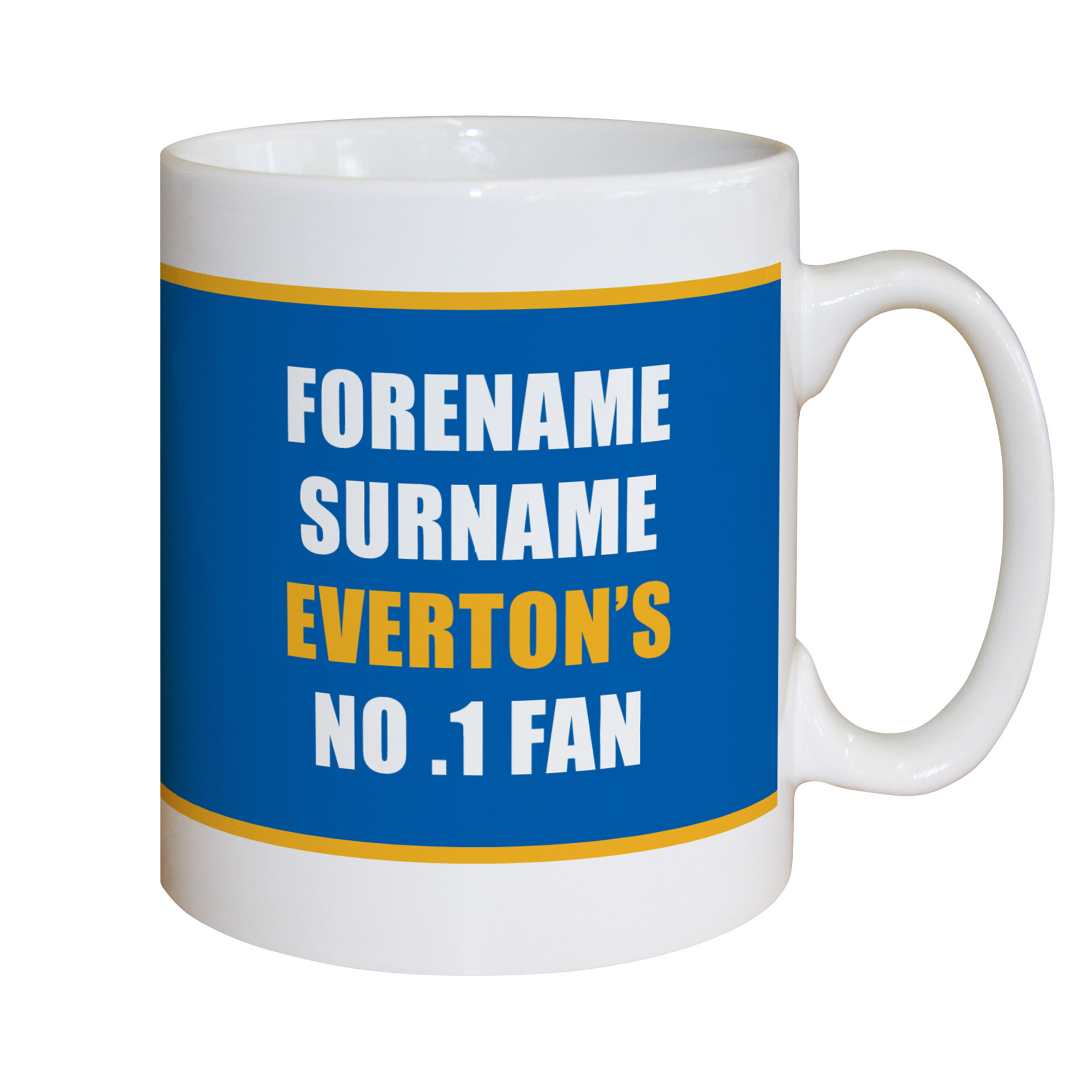Everton Personalised No.1 Fan Mug