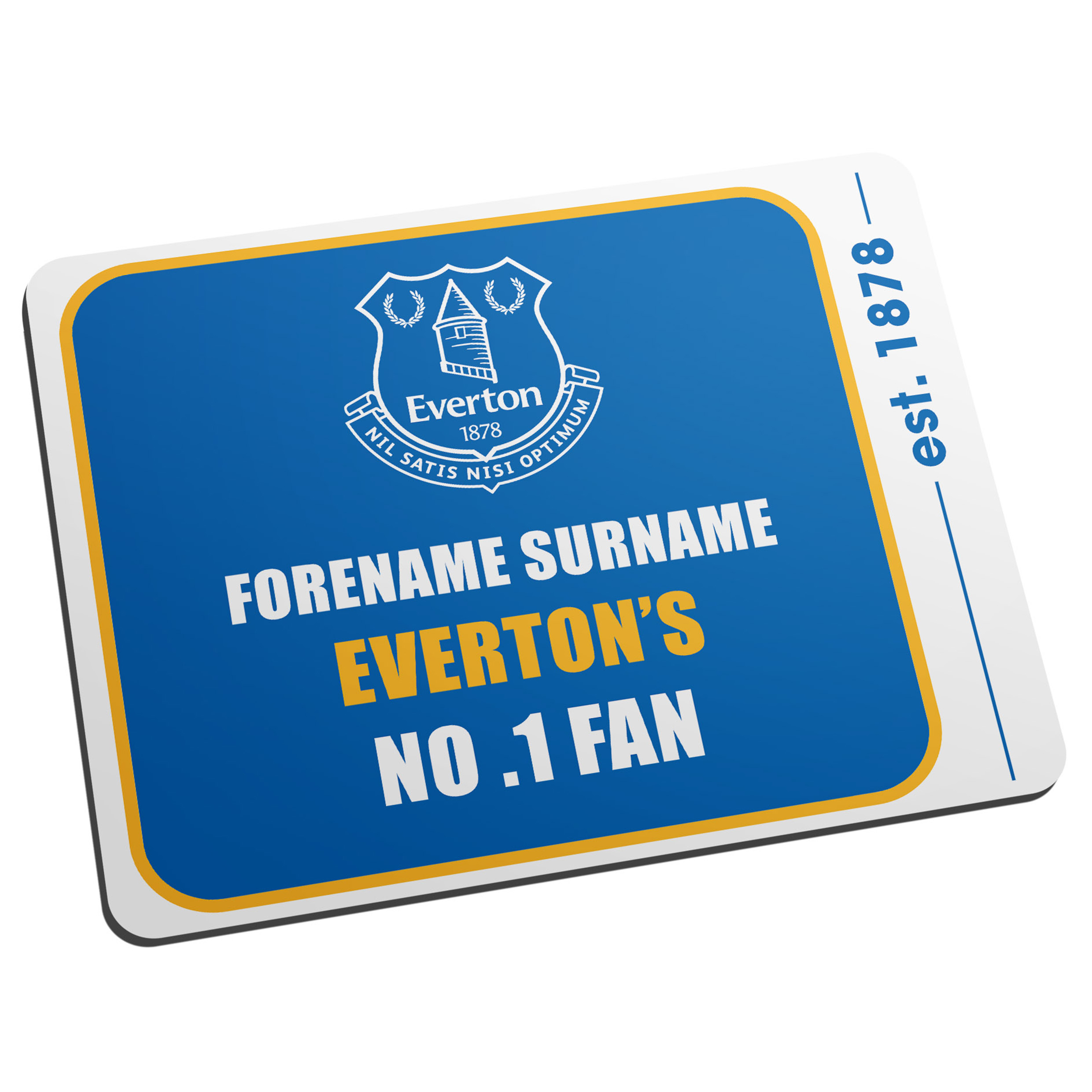 Everton Personalised No.1 Fan Mouse Mat
