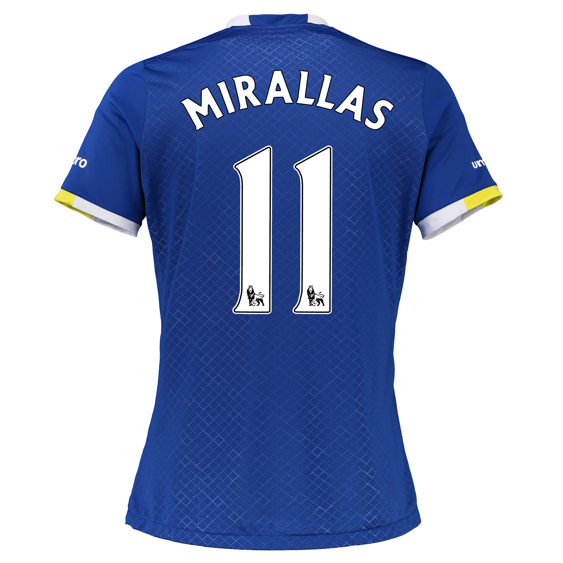 Everton Home Shirt 2016/17 - Womens with Mirallas 11 printing