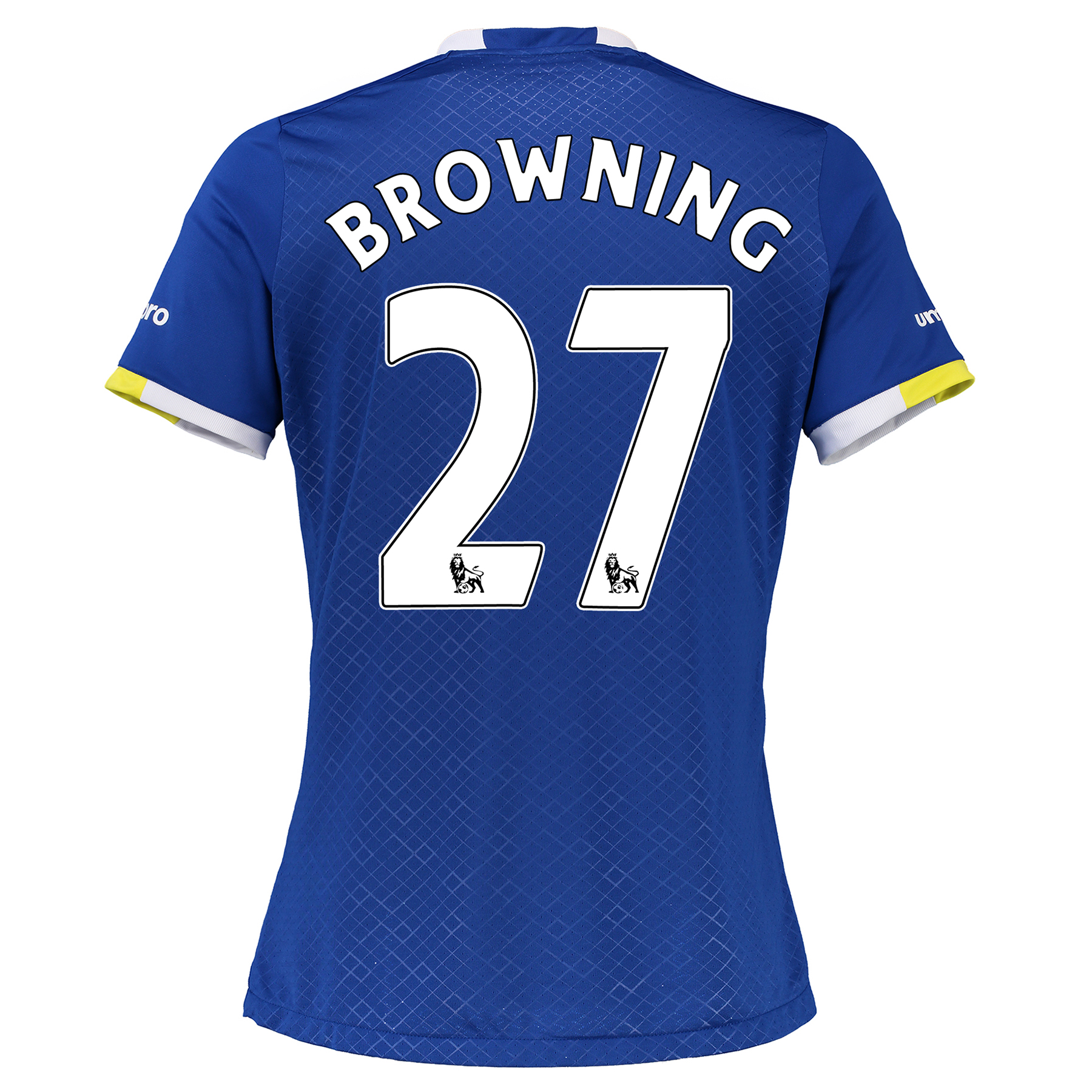 Everton Home Shirt 2016/17 - Womens with Browning 27 printing