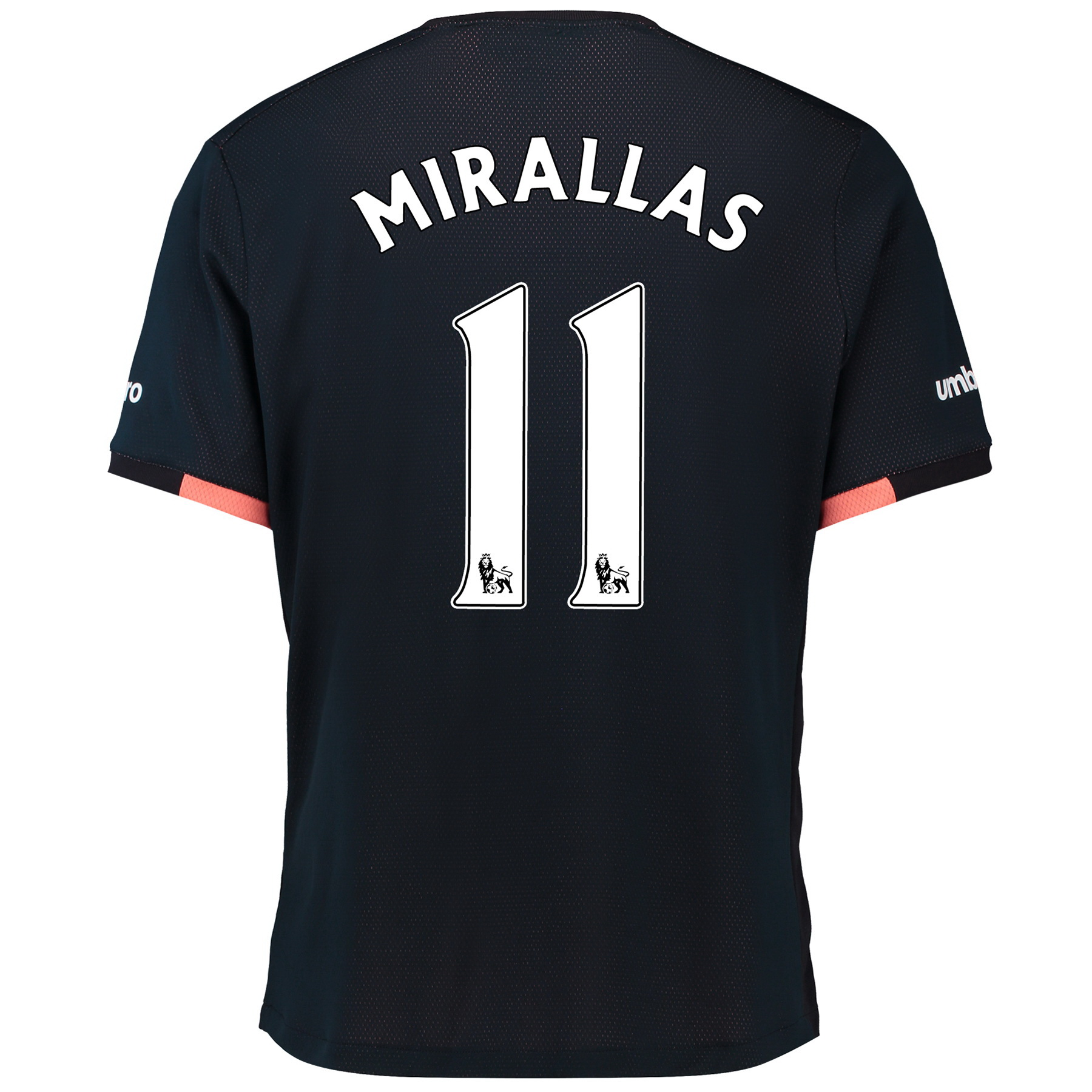 Everton Away Baby Kit 2016/17 with Mirallas 11 printing