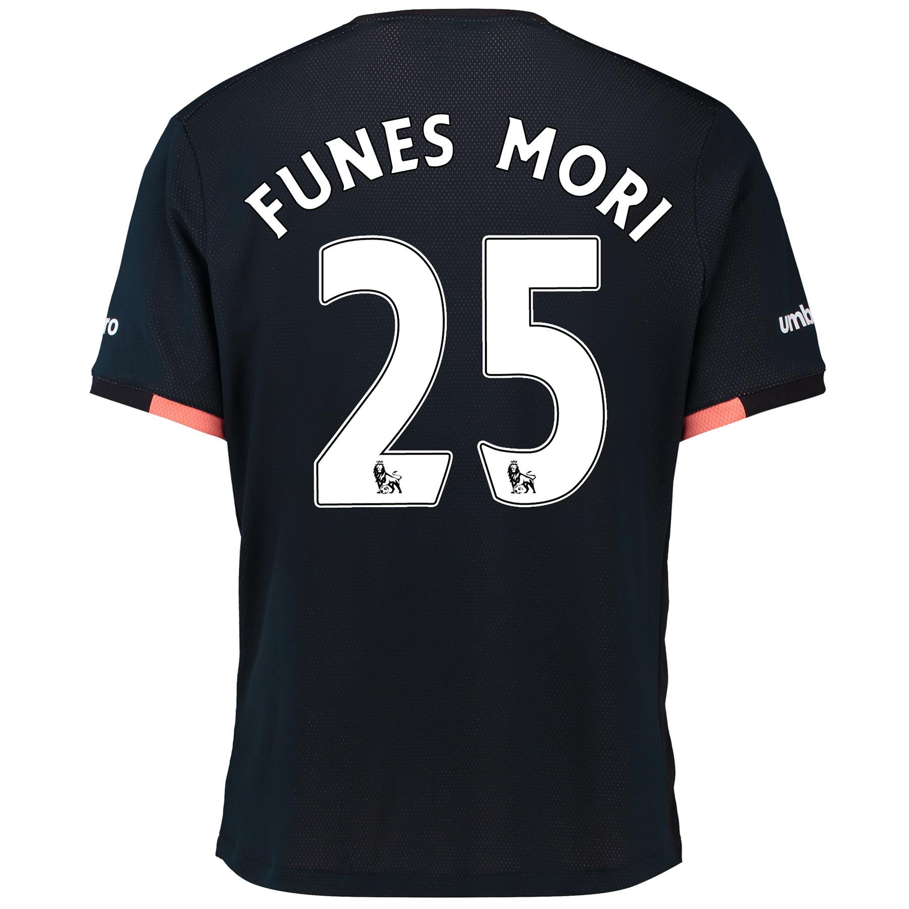 Everton Away Baby Kit 2016/17 with Funes Mori 25 printing