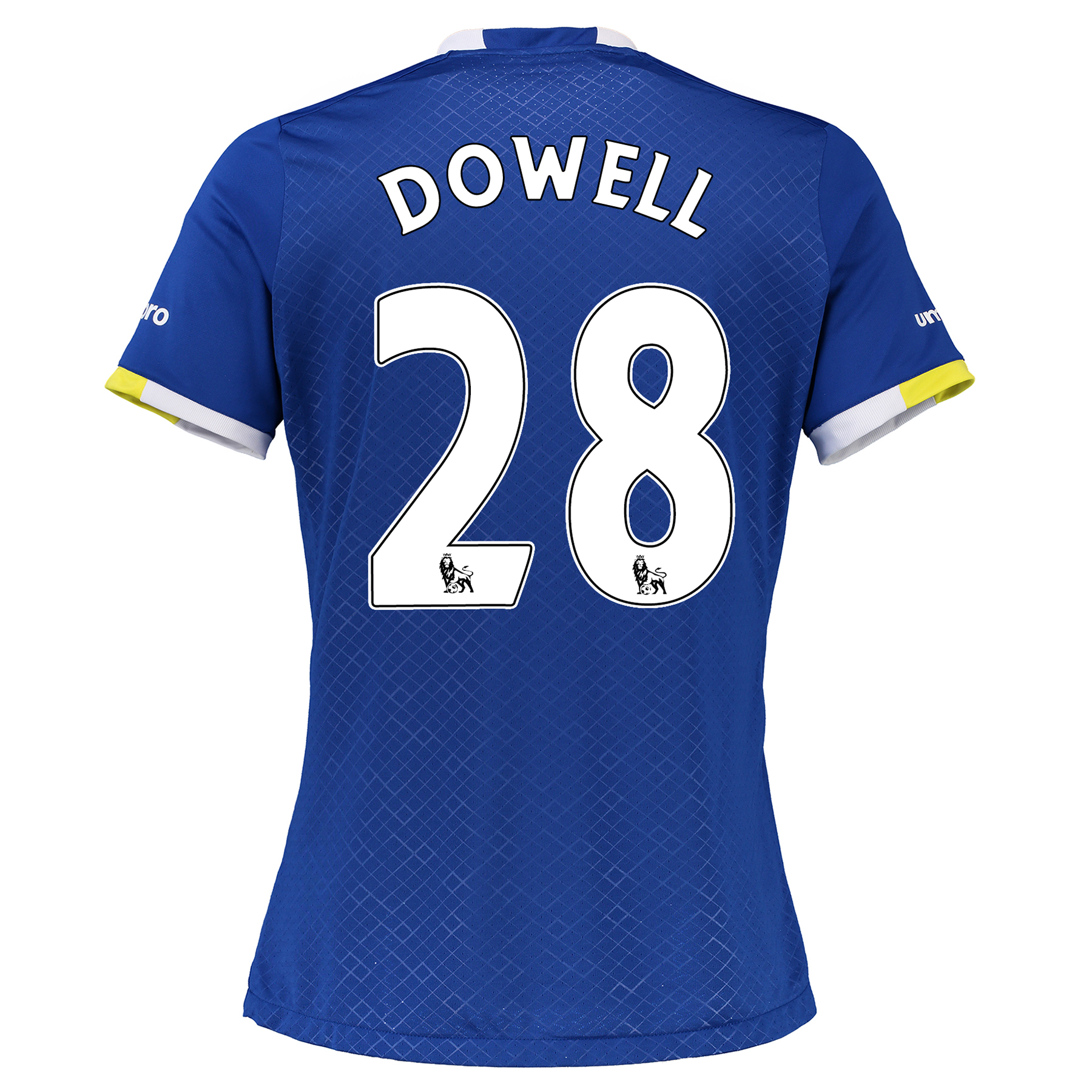 Everton Home Shirt 2016/17 - Womens with Dowell 28 printing