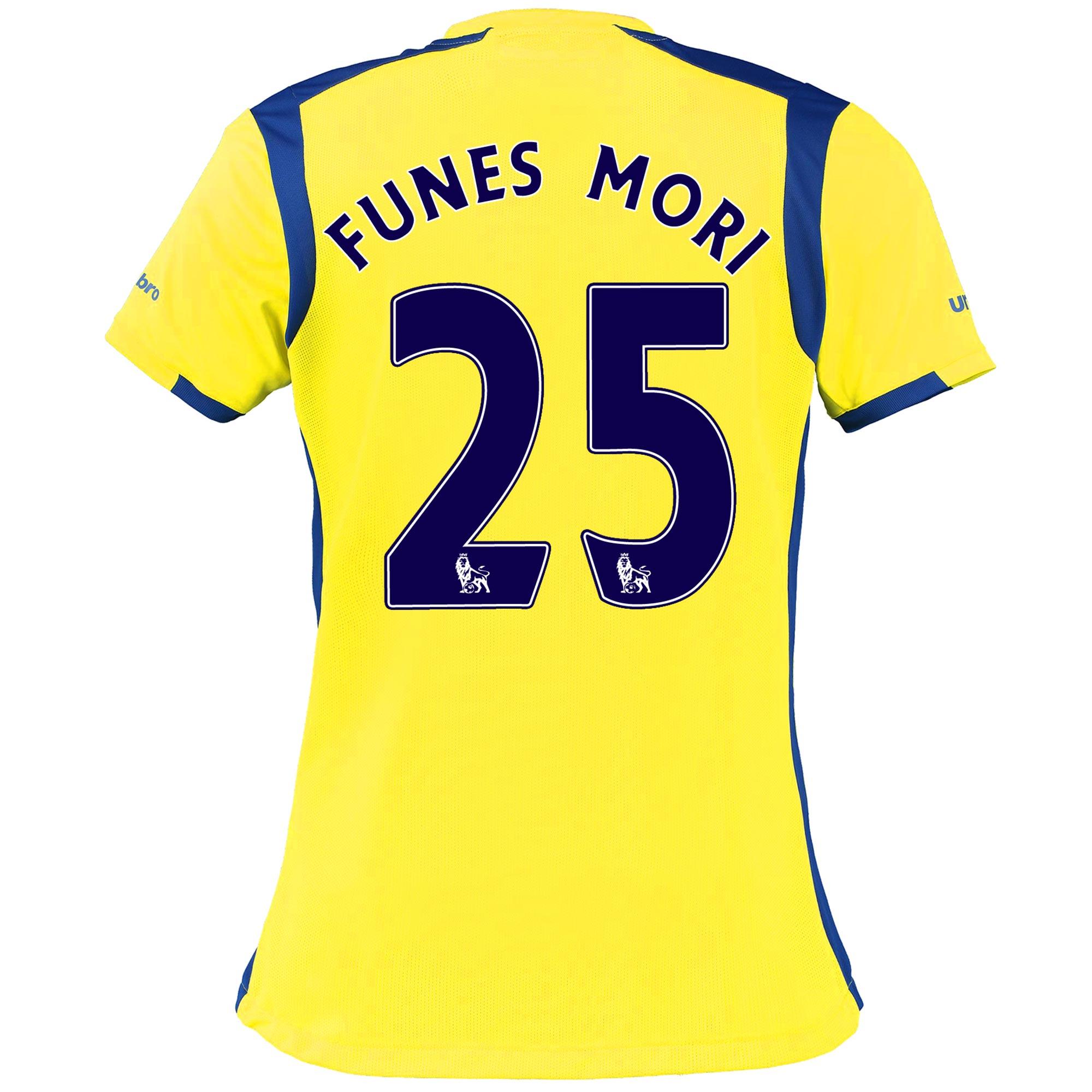 Everton 3rd Shirt 2016/17 - Womens with Funes Mori 25 printing