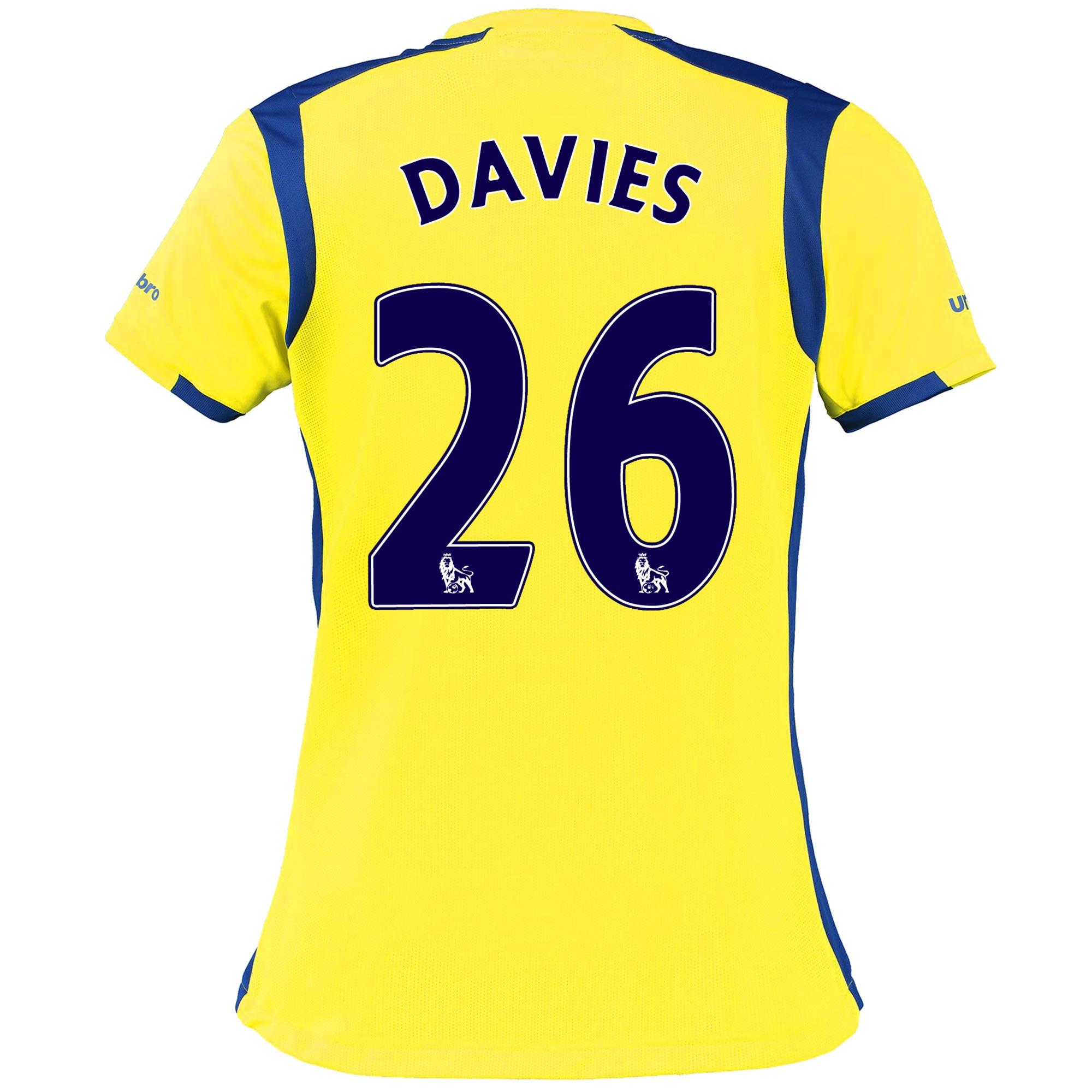 Everton 3rd Shirt 2016/17 - Womens with Davies 26 printing