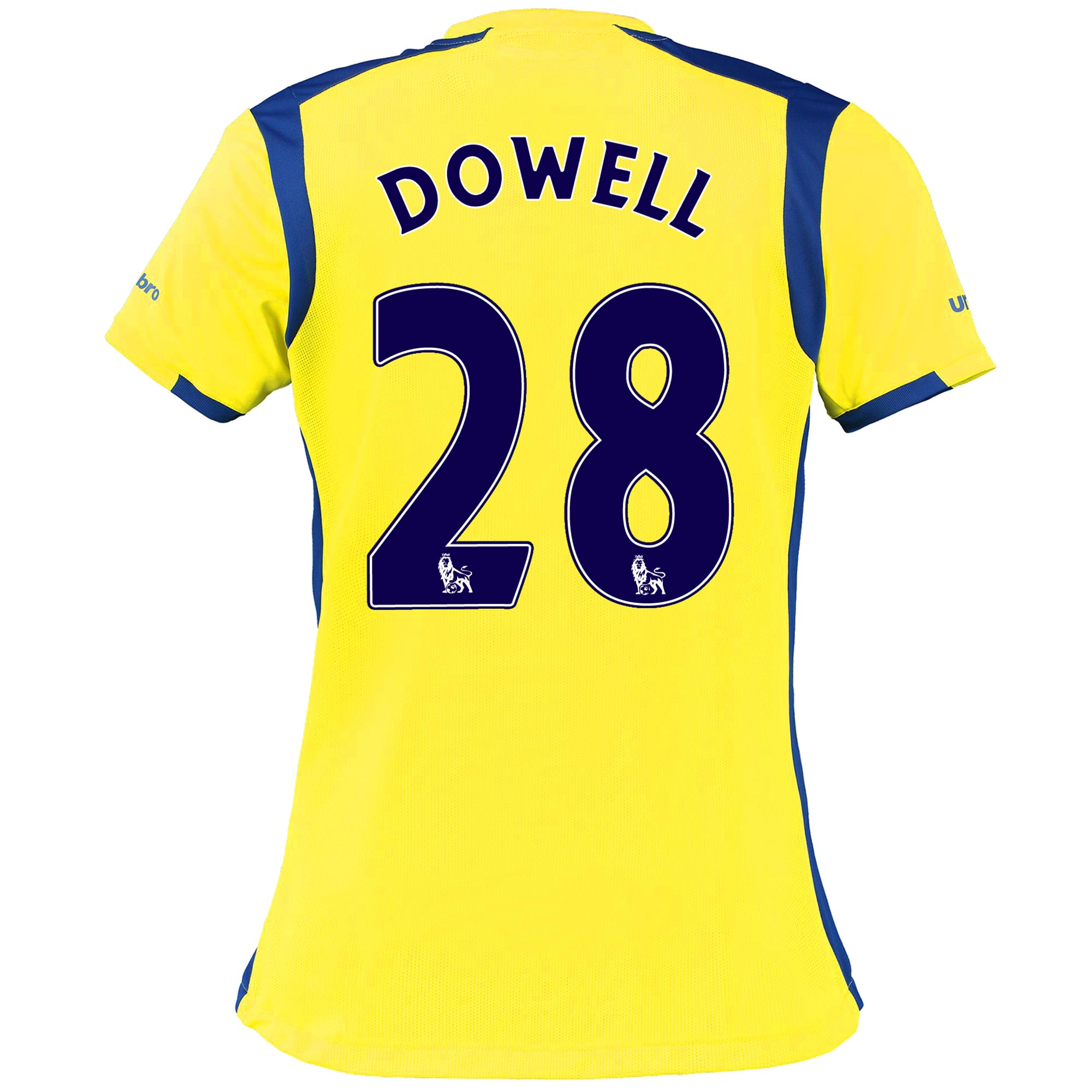 Everton 3rd Shirt 2016/17 - Womens with Dowell 28 printing