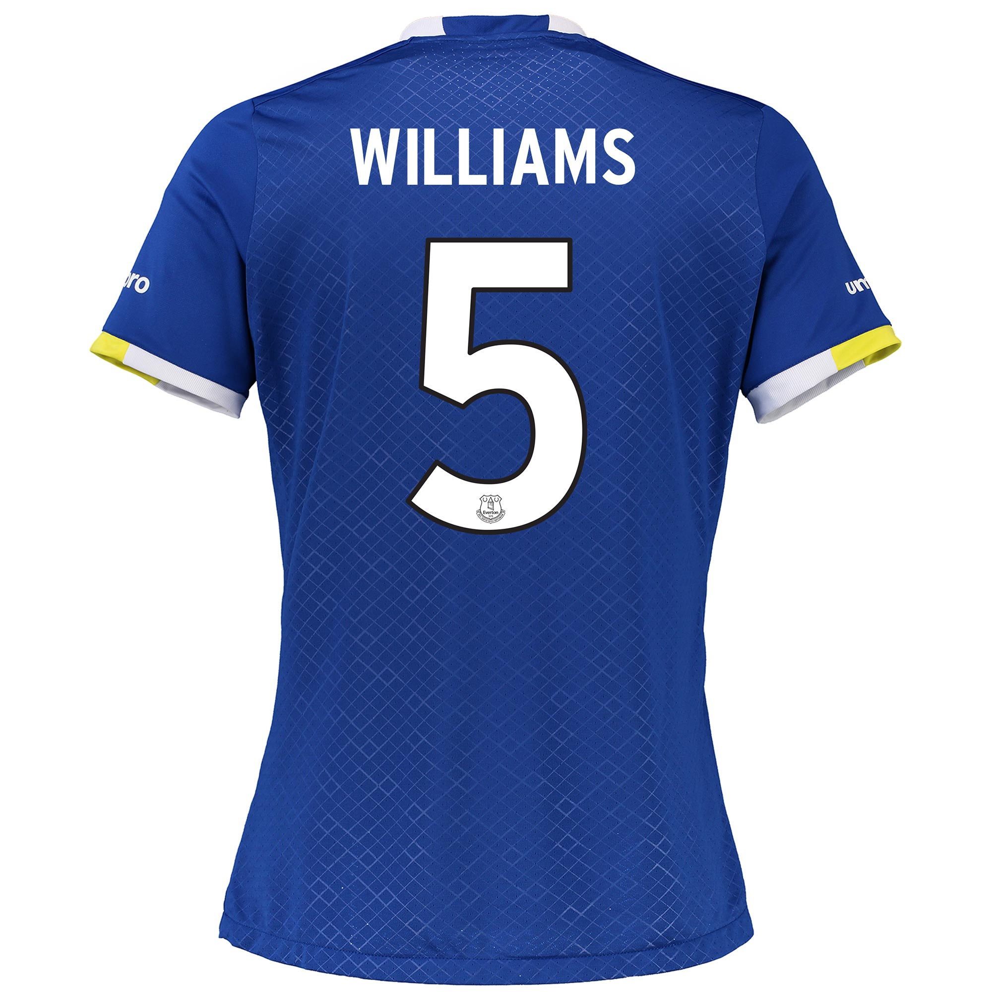 Everton Home Cup Shirt 2016/17 - Womens with Williams 5 printing