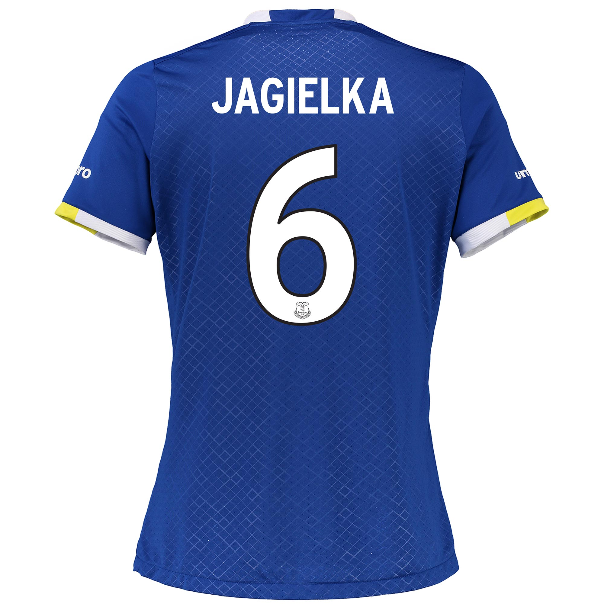 Everton Home Cup Shirt 2016/17 - Womens with Jagielka 6 printing