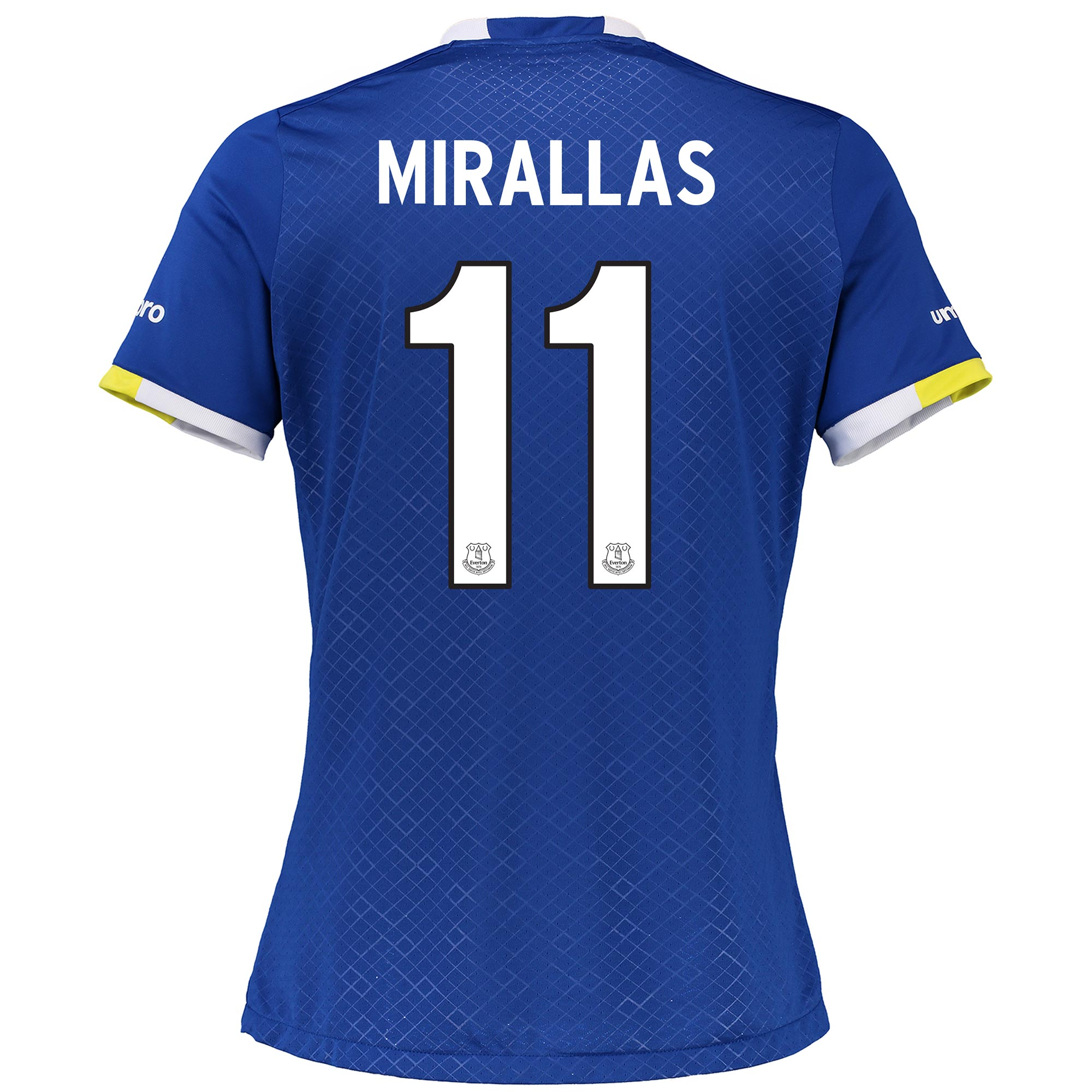 Everton Home Cup Shirt 2016/17 - Womens with Mirallas 11 printing