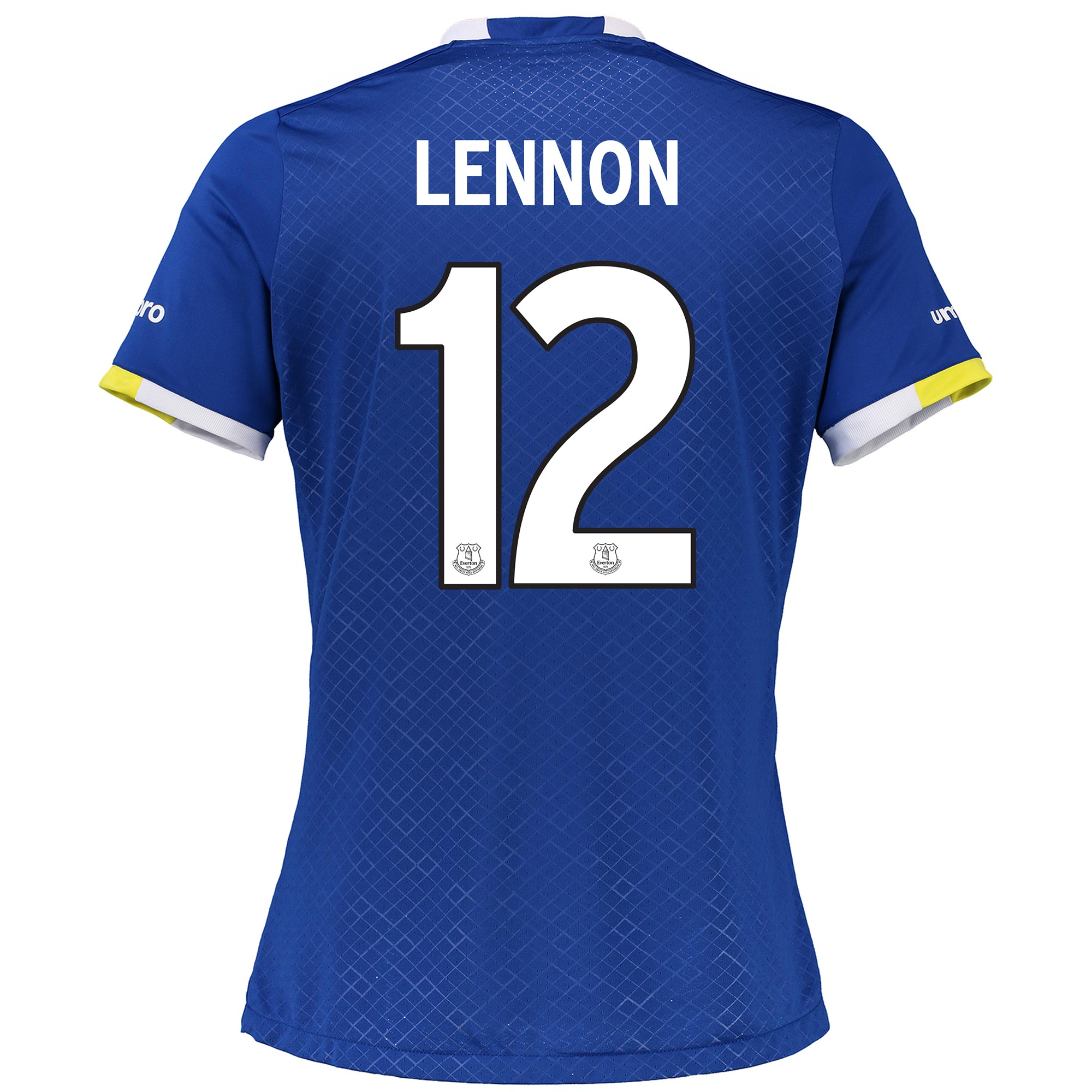 Everton Home Cup Shirt 2016/17 - Womens with Lennon 12 printing