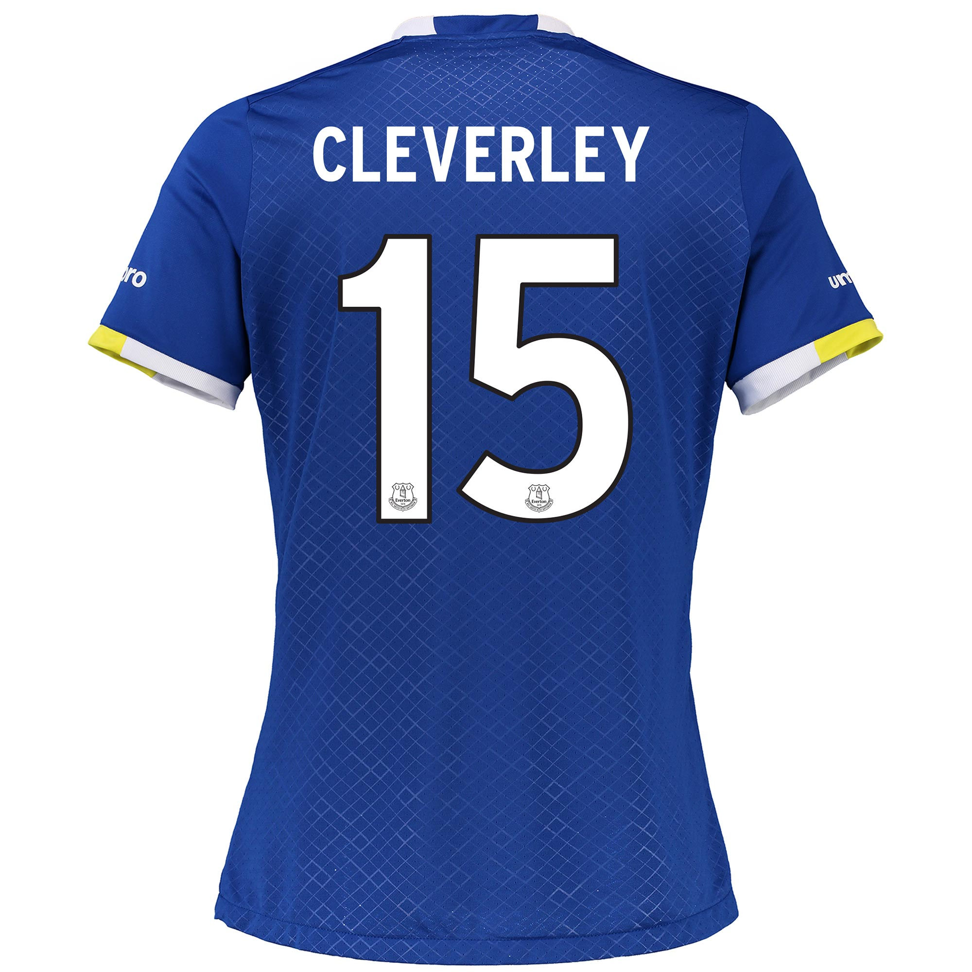 Everton Home Cup Shirt 2016/17 - Womens with Cleverley 15 printing
