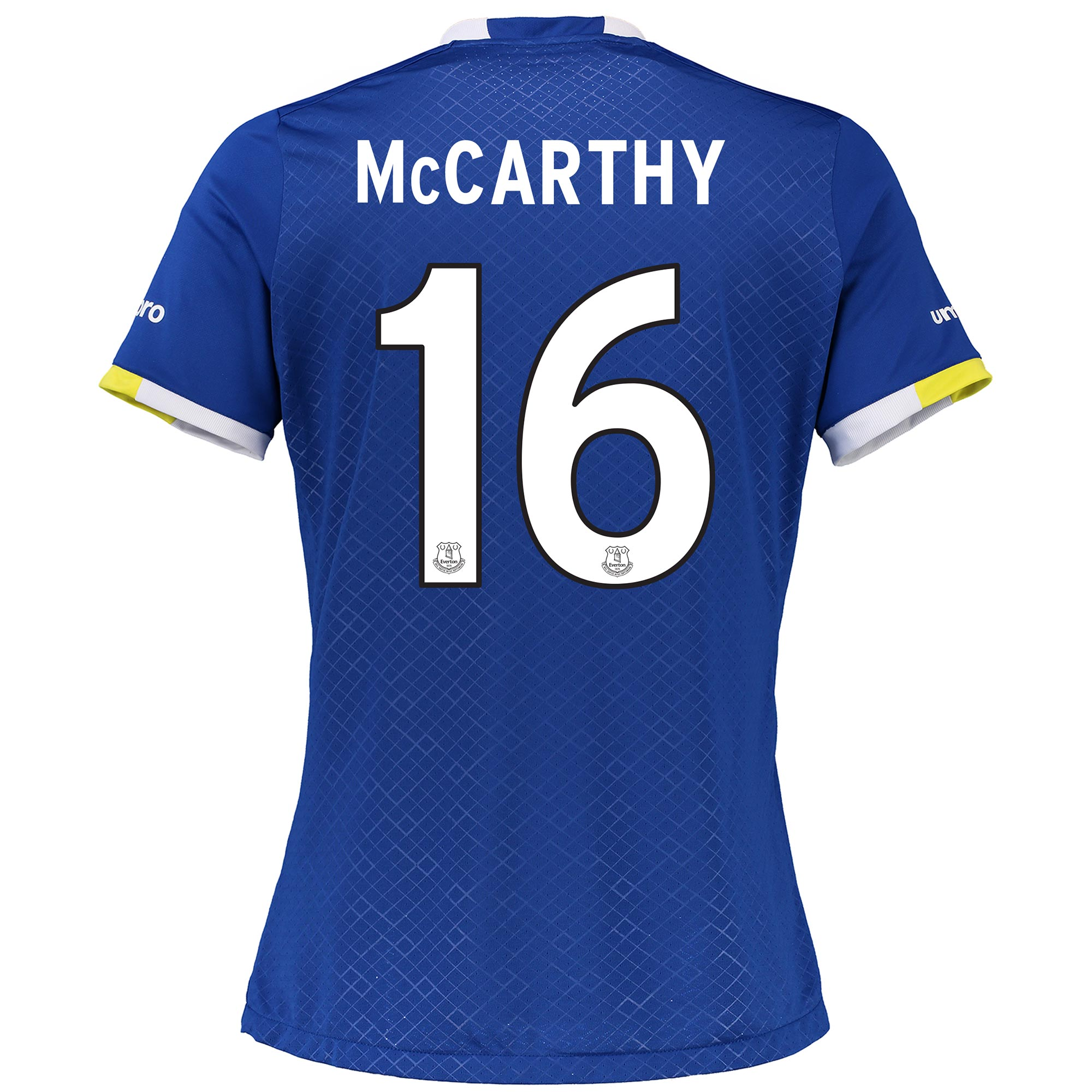 Everton Home Cup Shirt 2016/17 - Womens with McCarthy 16 printing