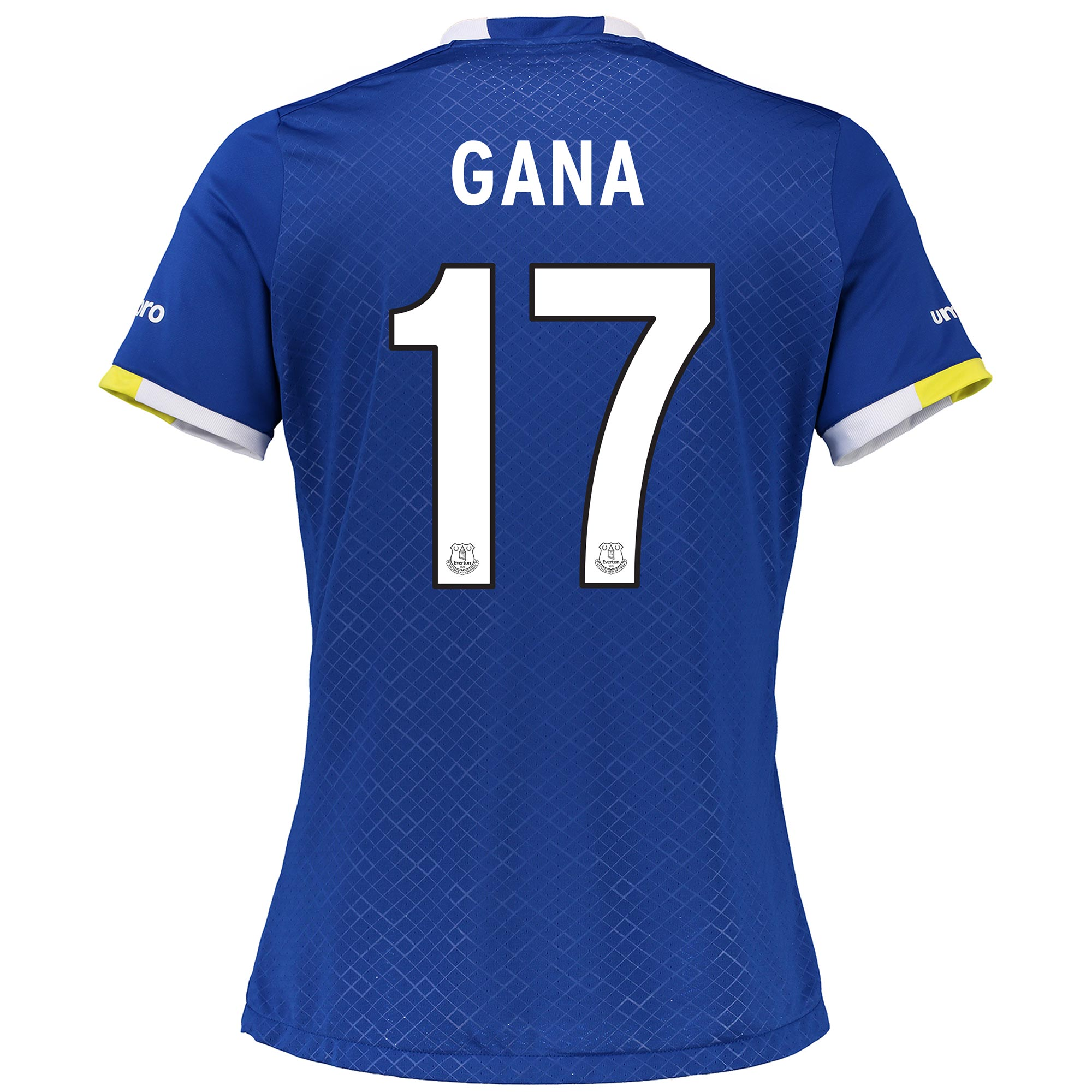 Everton Home Cup Shirt 2016/17 - Womens with Gana 17 printing