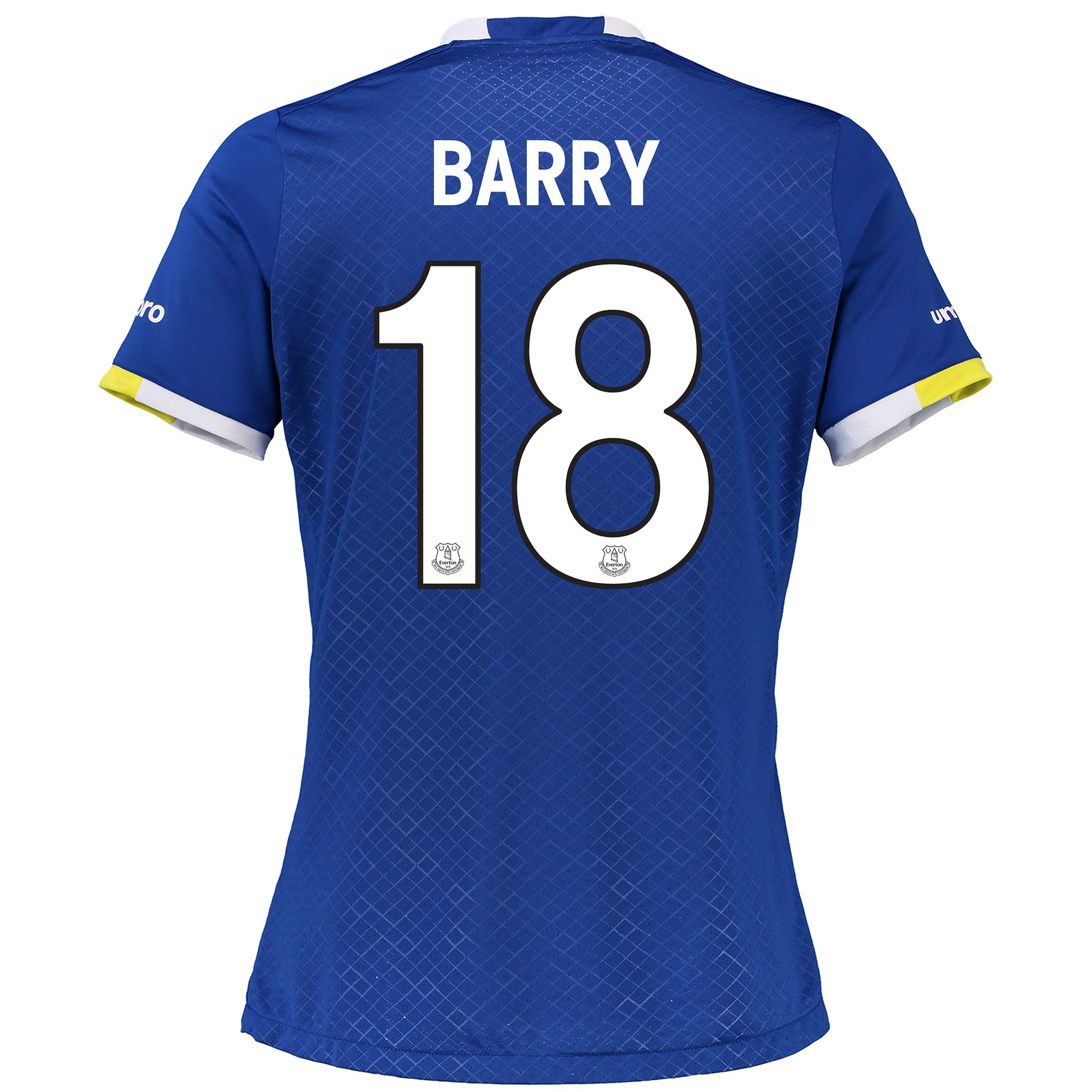 Everton Home Cup Shirt 2016/17 - Womens with Barry 18 printing