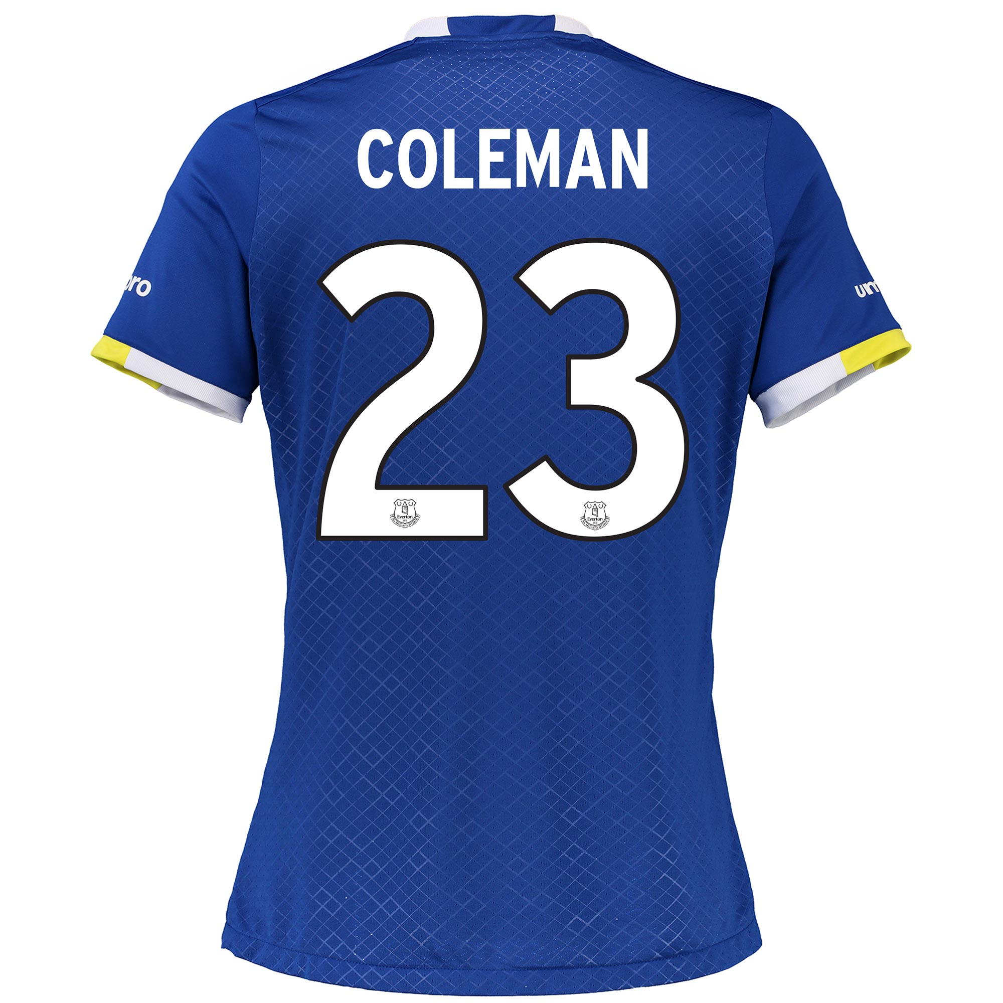 Everton Home Cup Shirt 2016/17 - Womens with Coleman 23 printing