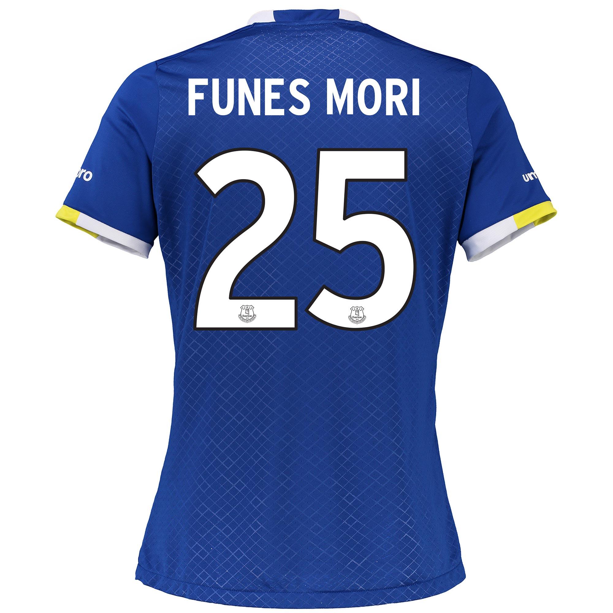 Everton Home Cup Shirt 2016/17 - Womens with Funes Mori 25 printing