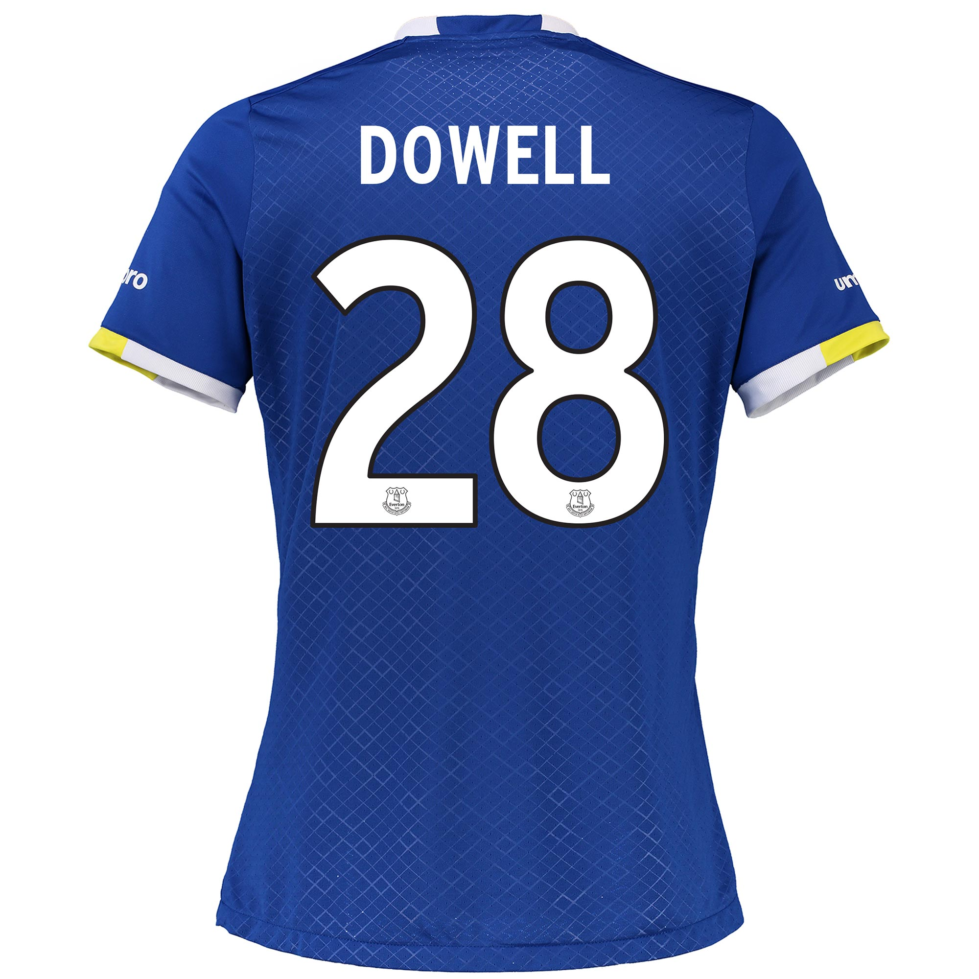 Everton Home Cup Shirt 2016/17 - Womens with Dowell 28 printing