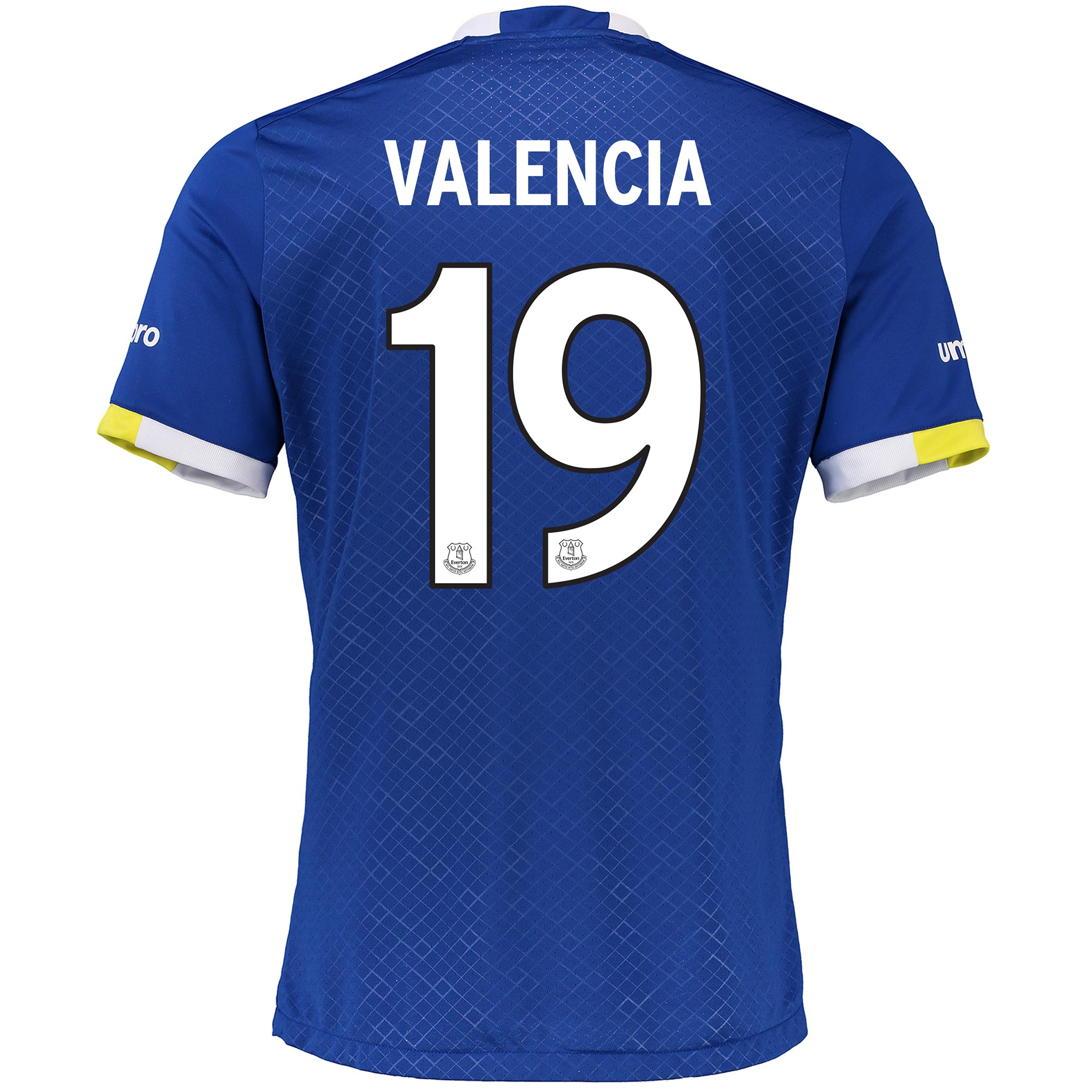 Everton Home Cup Shirt 2016/17 with Valencia 19 printing