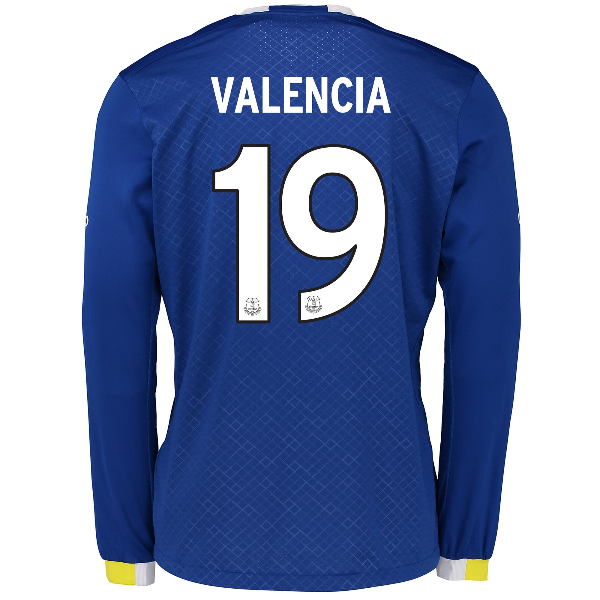 Everton Home Cup Shirt 2016/17 - Long Sleeved with Valencia 19 printin