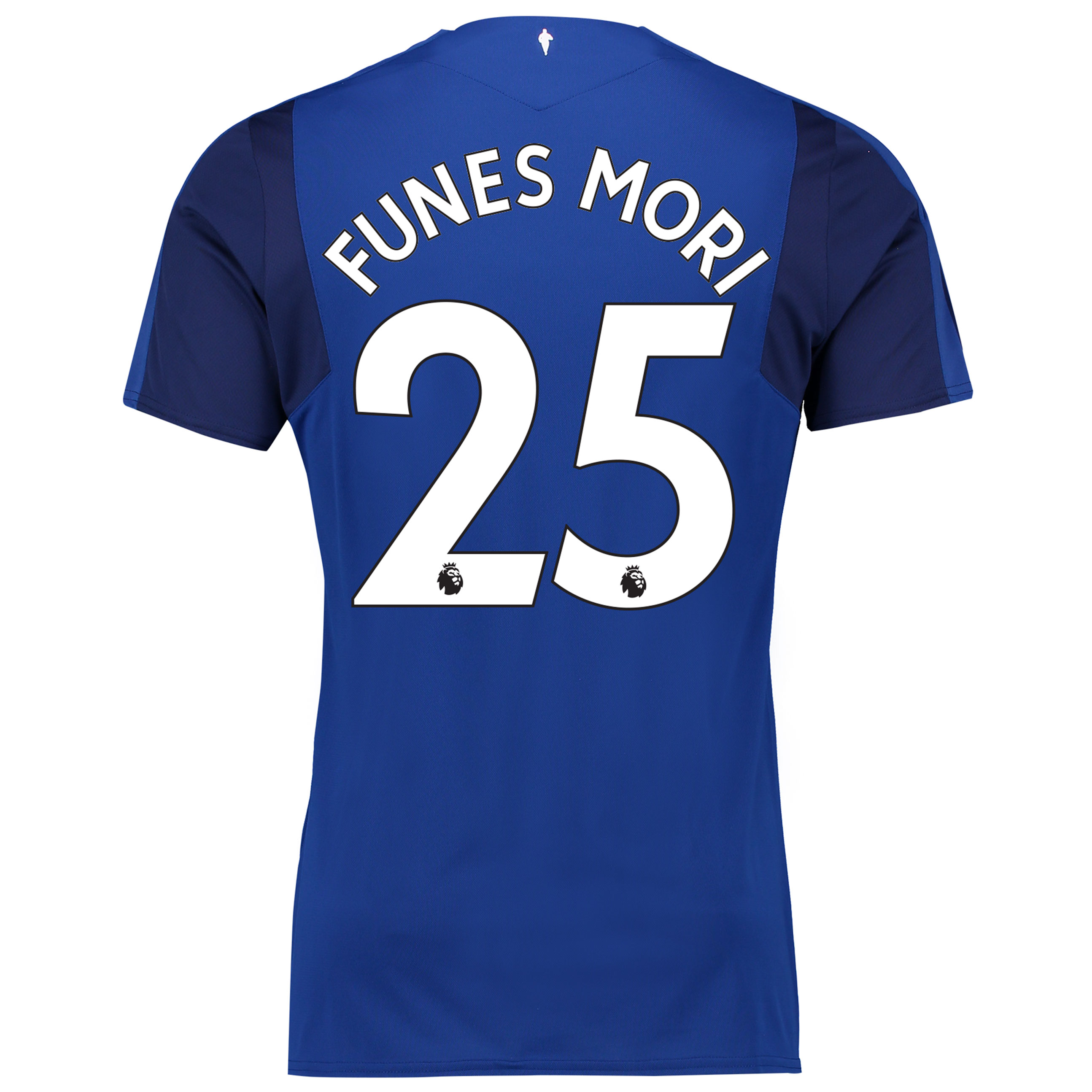 Everton Home Shirt 2017/18 with Funes Mori 25 printing