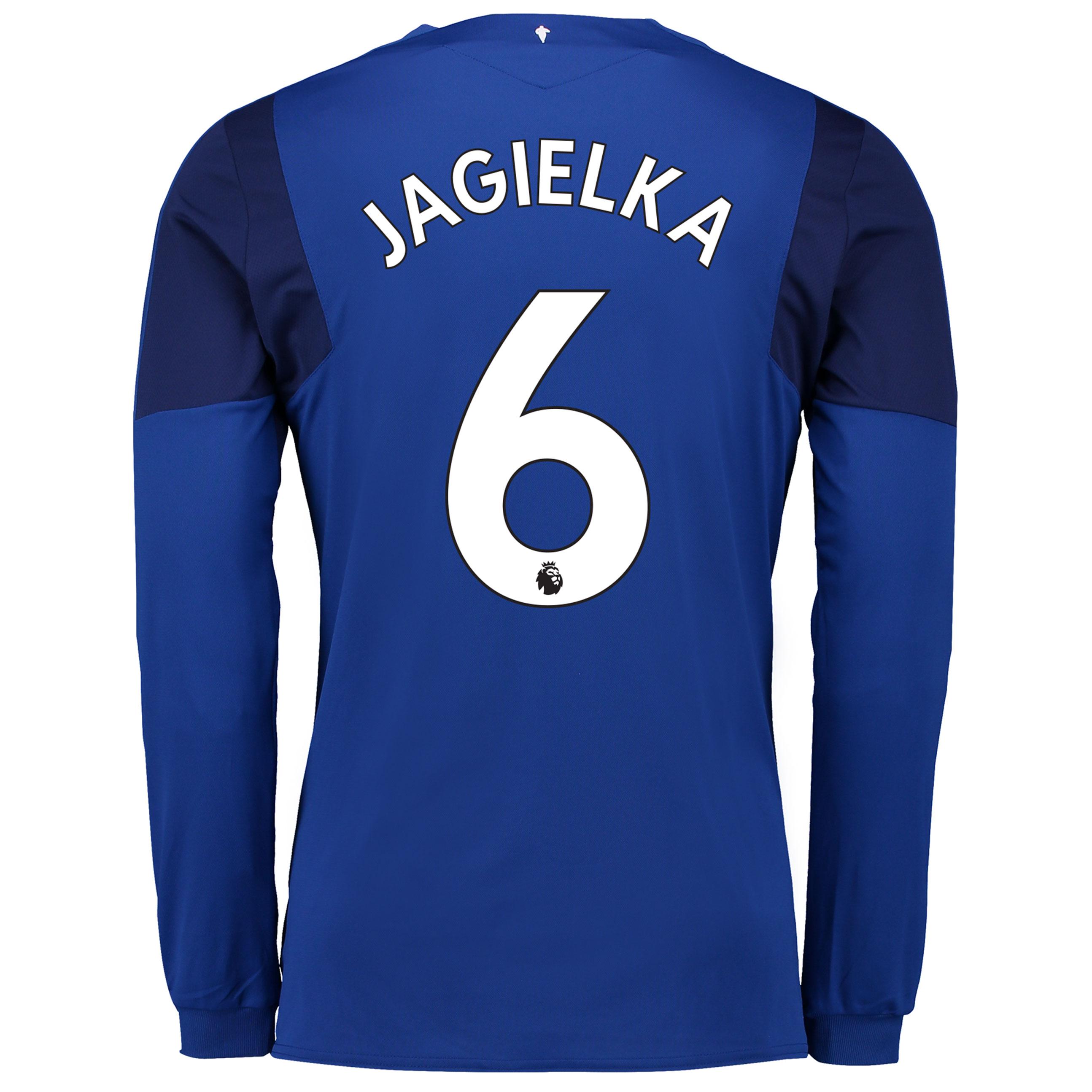 Everton Home Shirt 2017/18 - Long Sleeved with Jagielka 6 printing