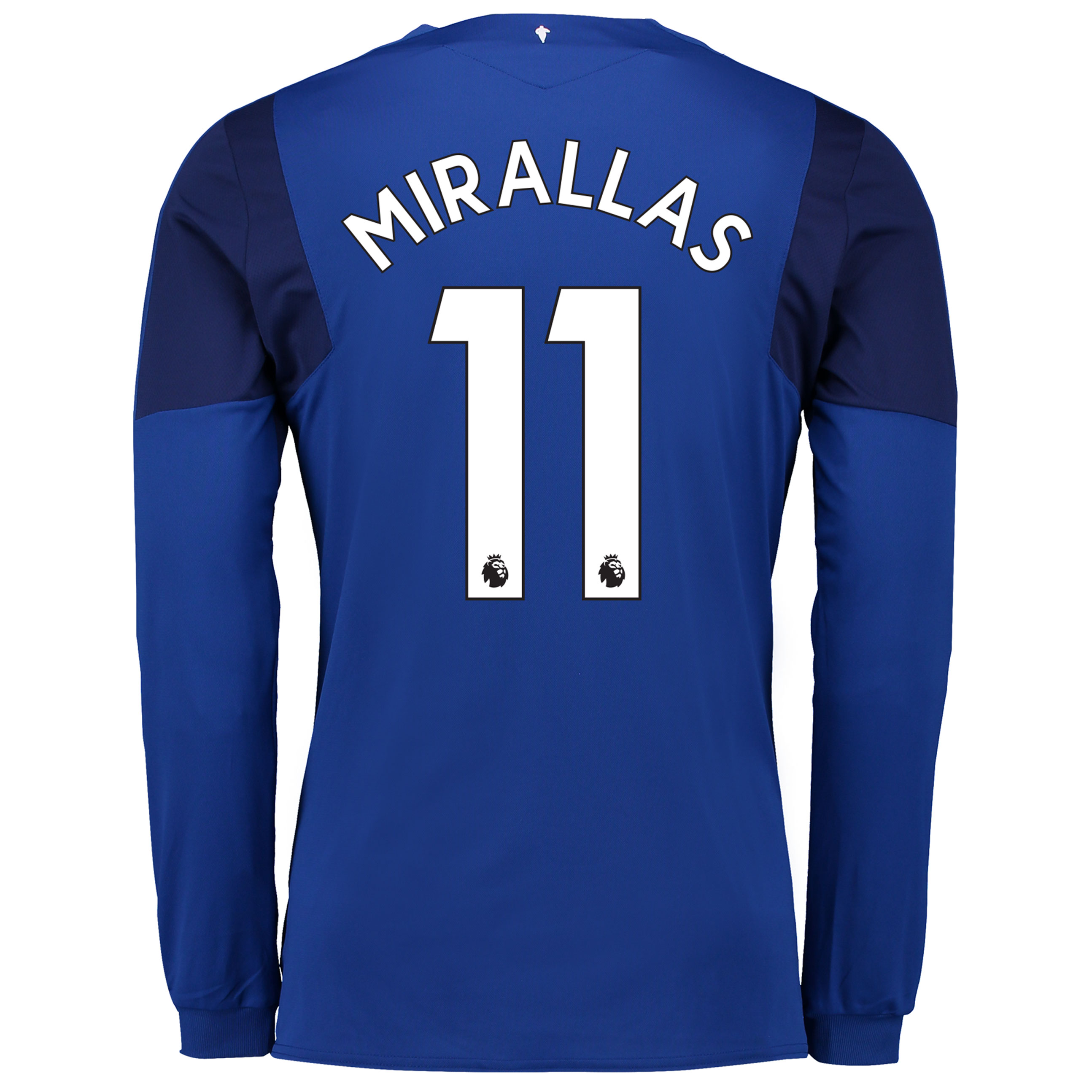 Everton Home Shirt 2017/18 - Long Sleeved with Mirallas 11 printing
