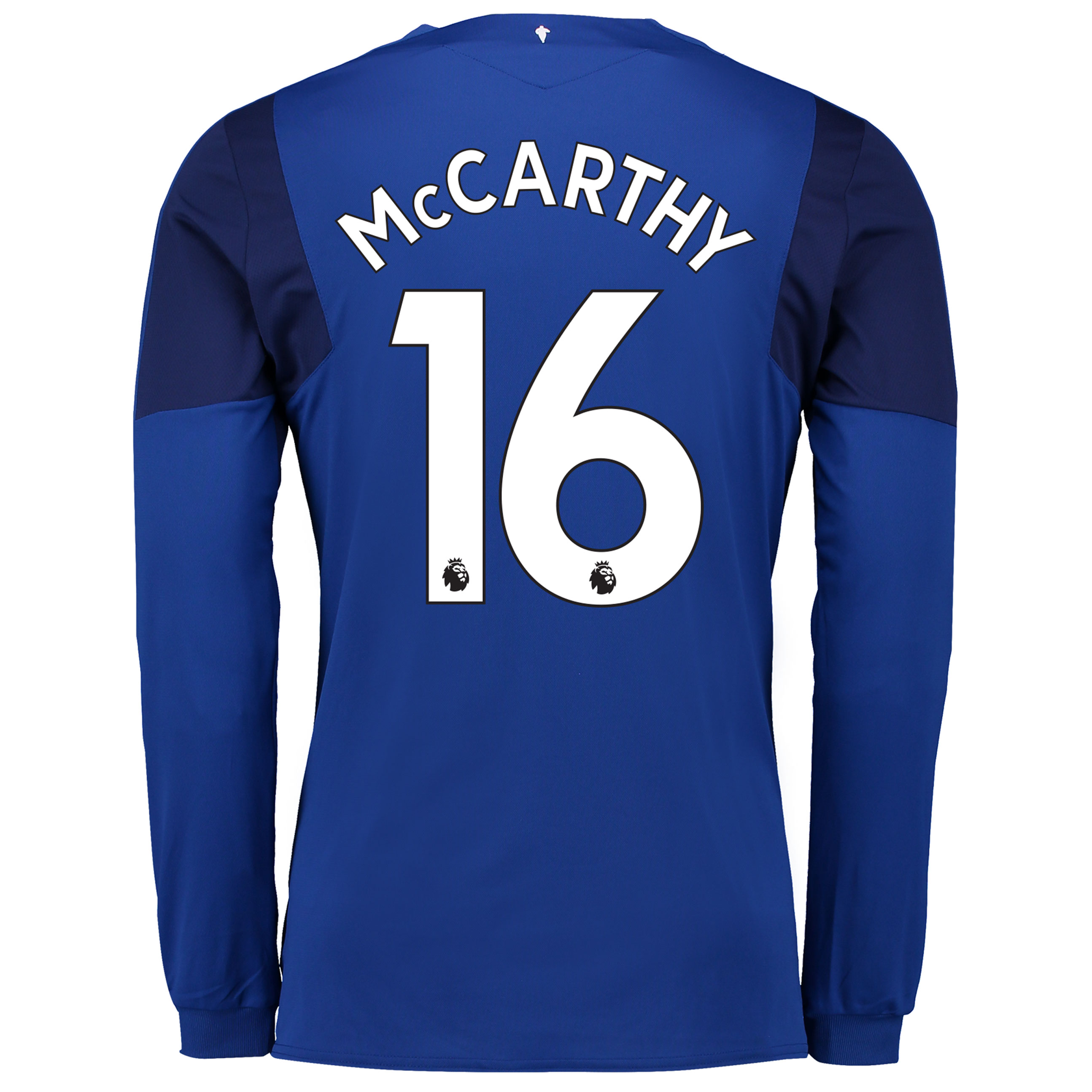 Everton Home Shirt 2017/18 - Long Sleeved with McCarthy 16 printing
